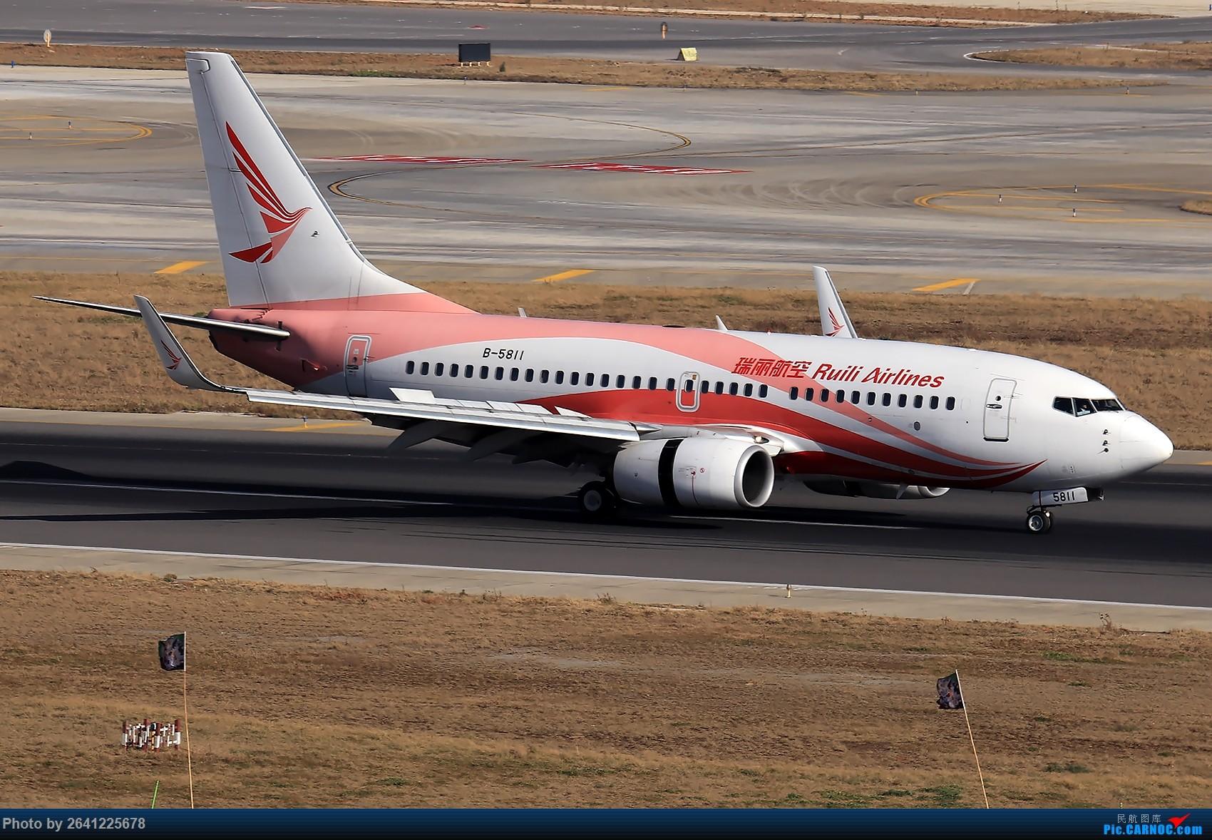 Re:【KMG】小周游记第6集拍机贴 BOEING 737-700 B-5811 中国昆明长水国际机场