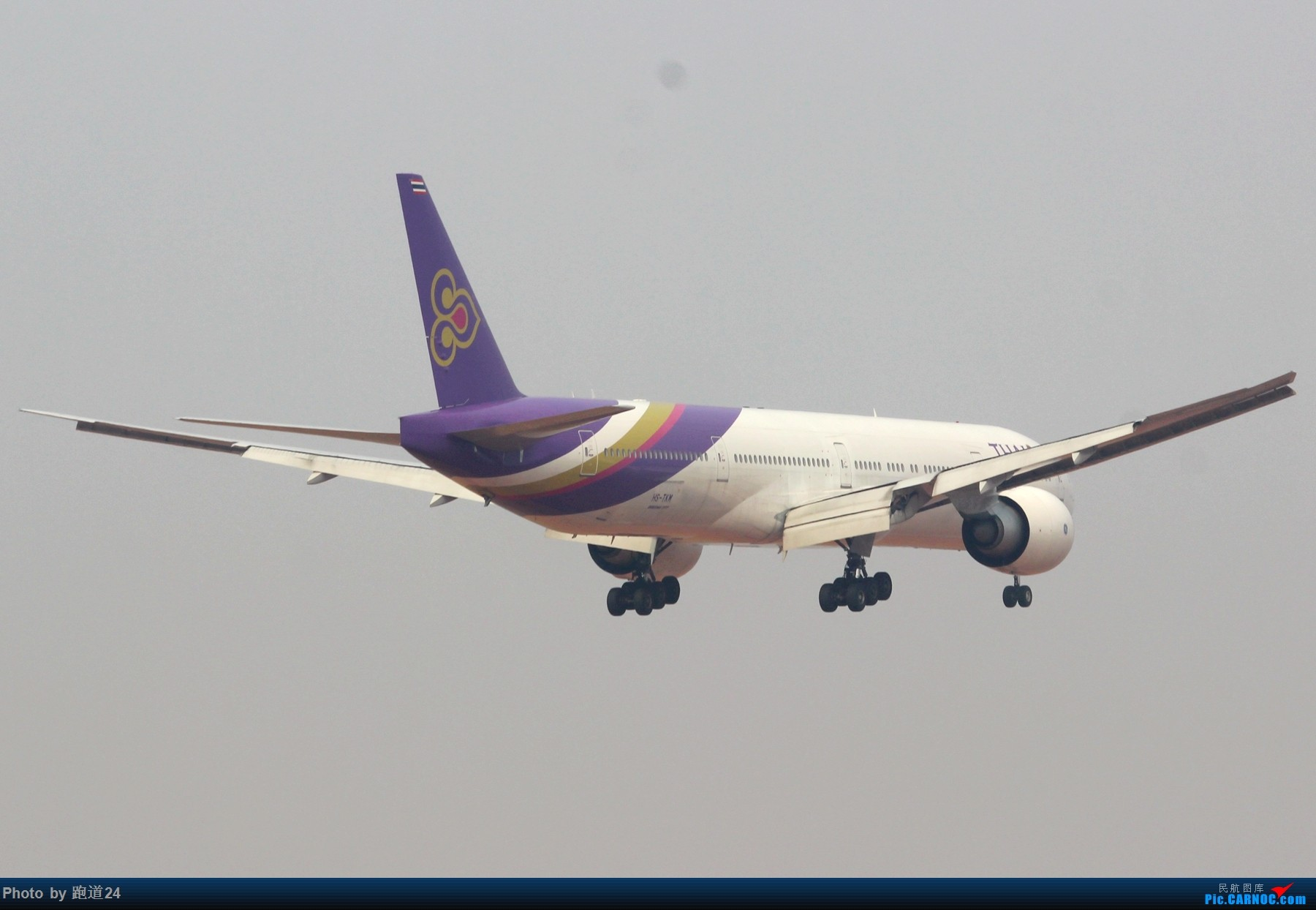 Re:[多图党]泰航B77W 1800*1200 BOEING 777-300ER HS-TKM 中国成都双流国际机场