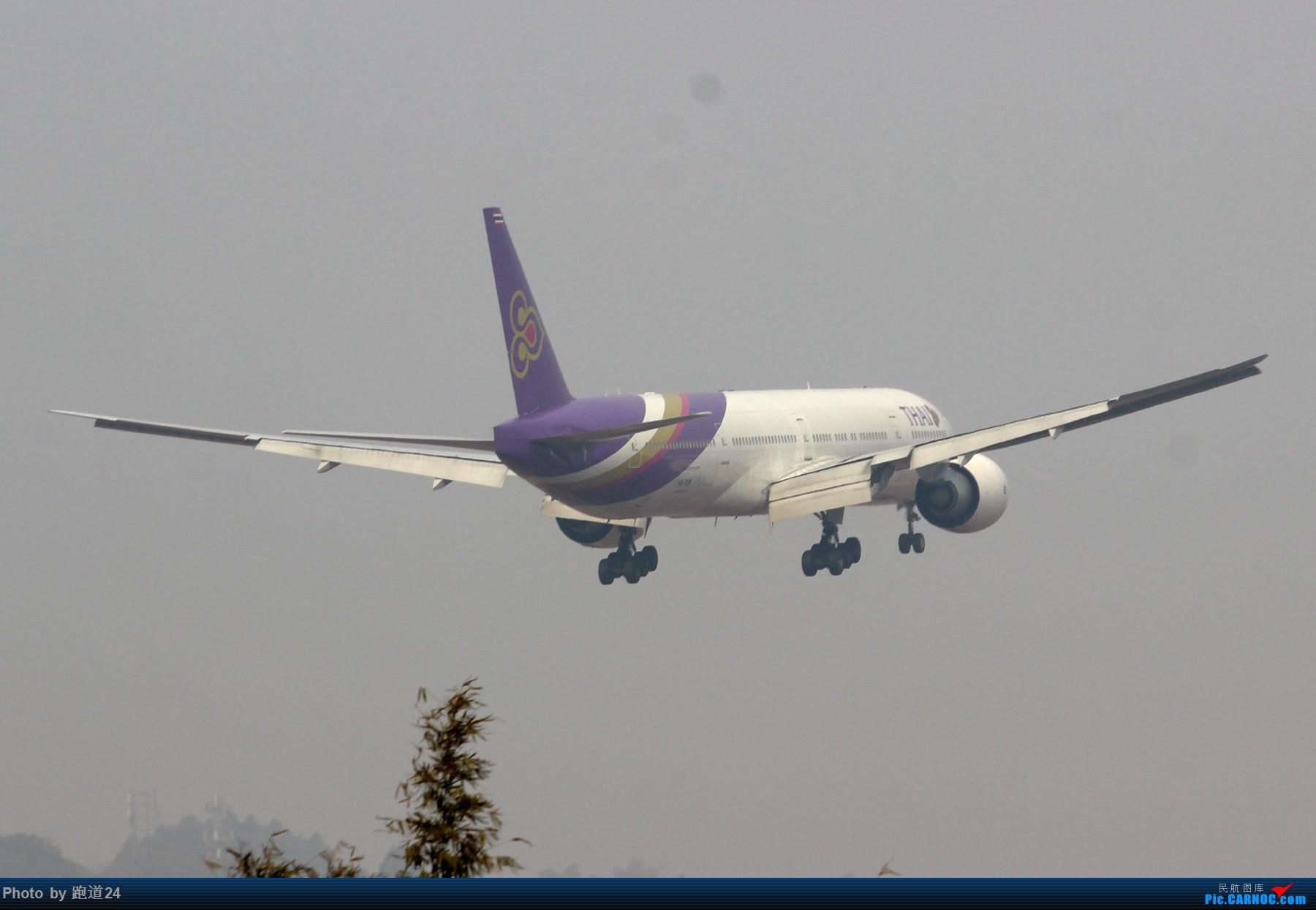 Re:[原创][多图党]泰航B77W 1800*1200 BOEING 777-300ER HS-TKM 中国成都双流国际机场