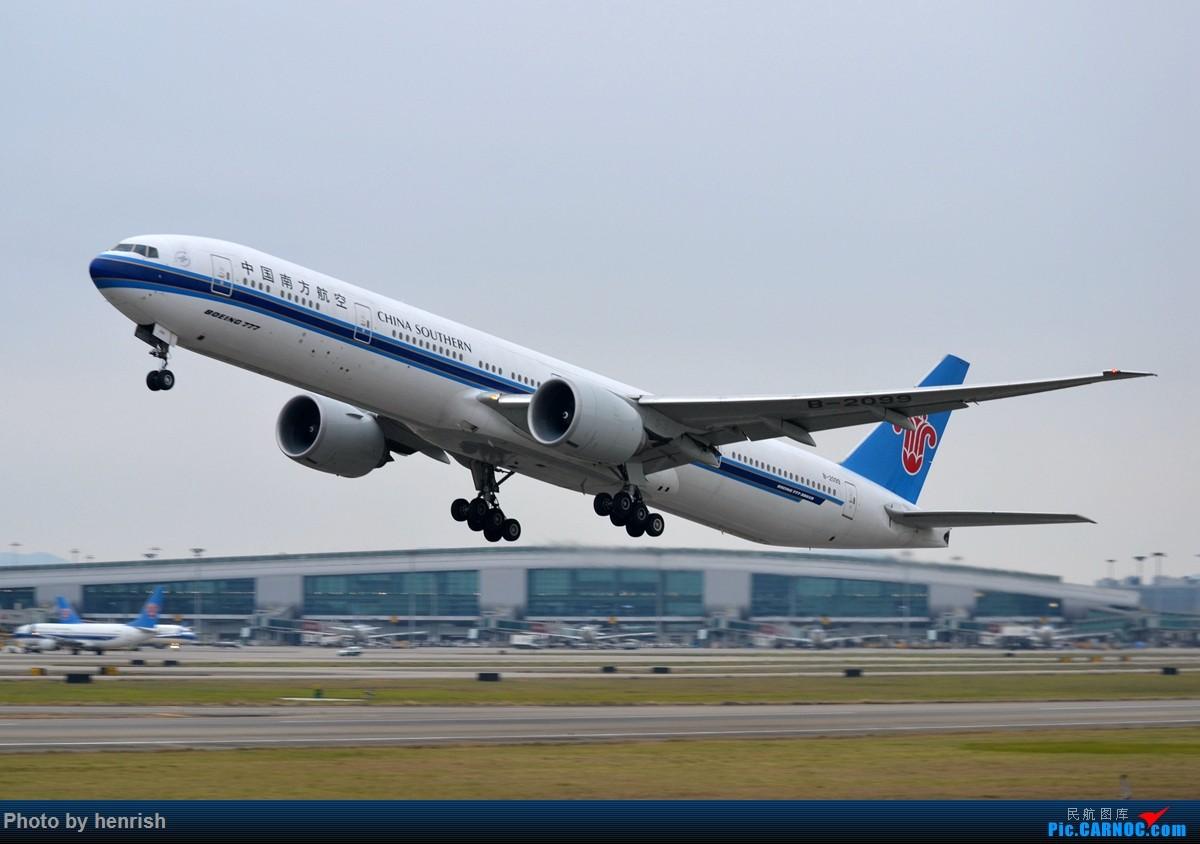 【肥威的CAN】阴天·白云·随缘·拉起。 BOEING 777-300ER B-2099 中国广州白云国际机场