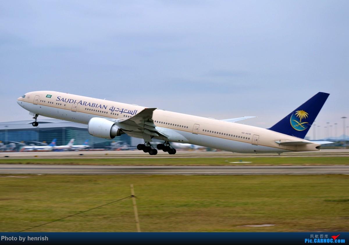 Re:【肥威的CAN】阴天·白云·随缘·拉起。 BOEING 777-300ER HZ-AK18 中国广州白云国际机场