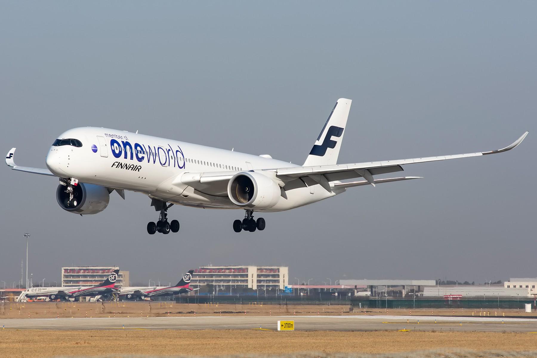 [原创][PVG]发图求好天——芬兰航空A350-900 One World 涂装 OH-LWB AIRBUS A350-900 OH-LWB 中国上海浦东国际机场