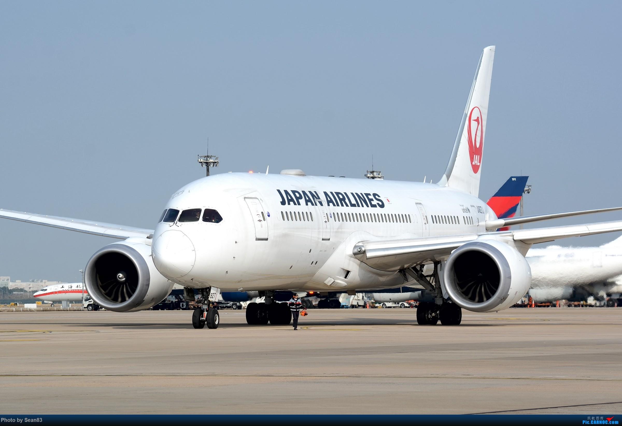 [原创](PVG)离 BOEING 787-8 JA827J 中国上海浦东国际机场