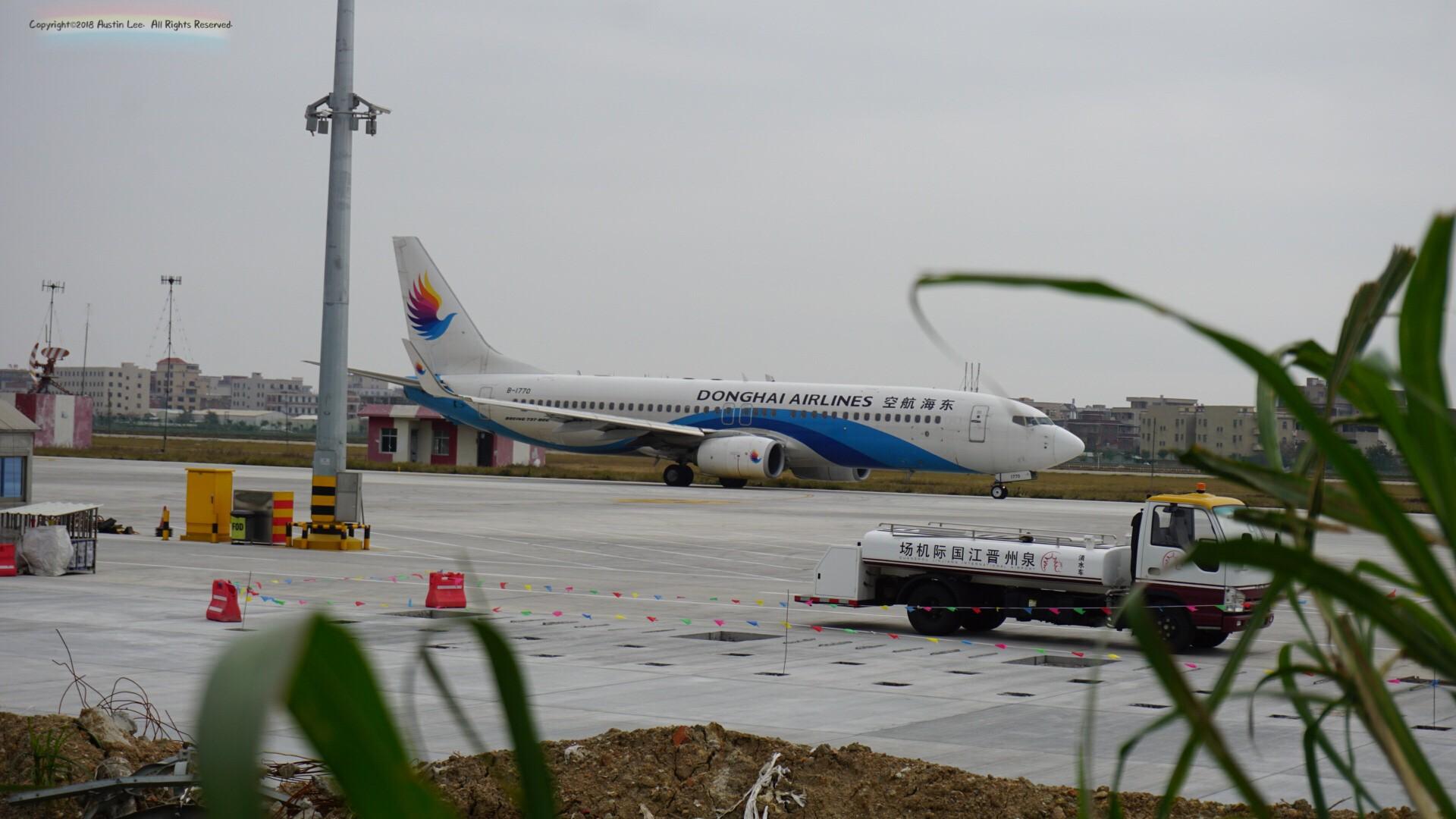 [原创]【JJN】第一次外场拍终于如愿·Feb20th~ BOEING 737-8Q8(WL) B-1770 中国泉州晋江国际机场