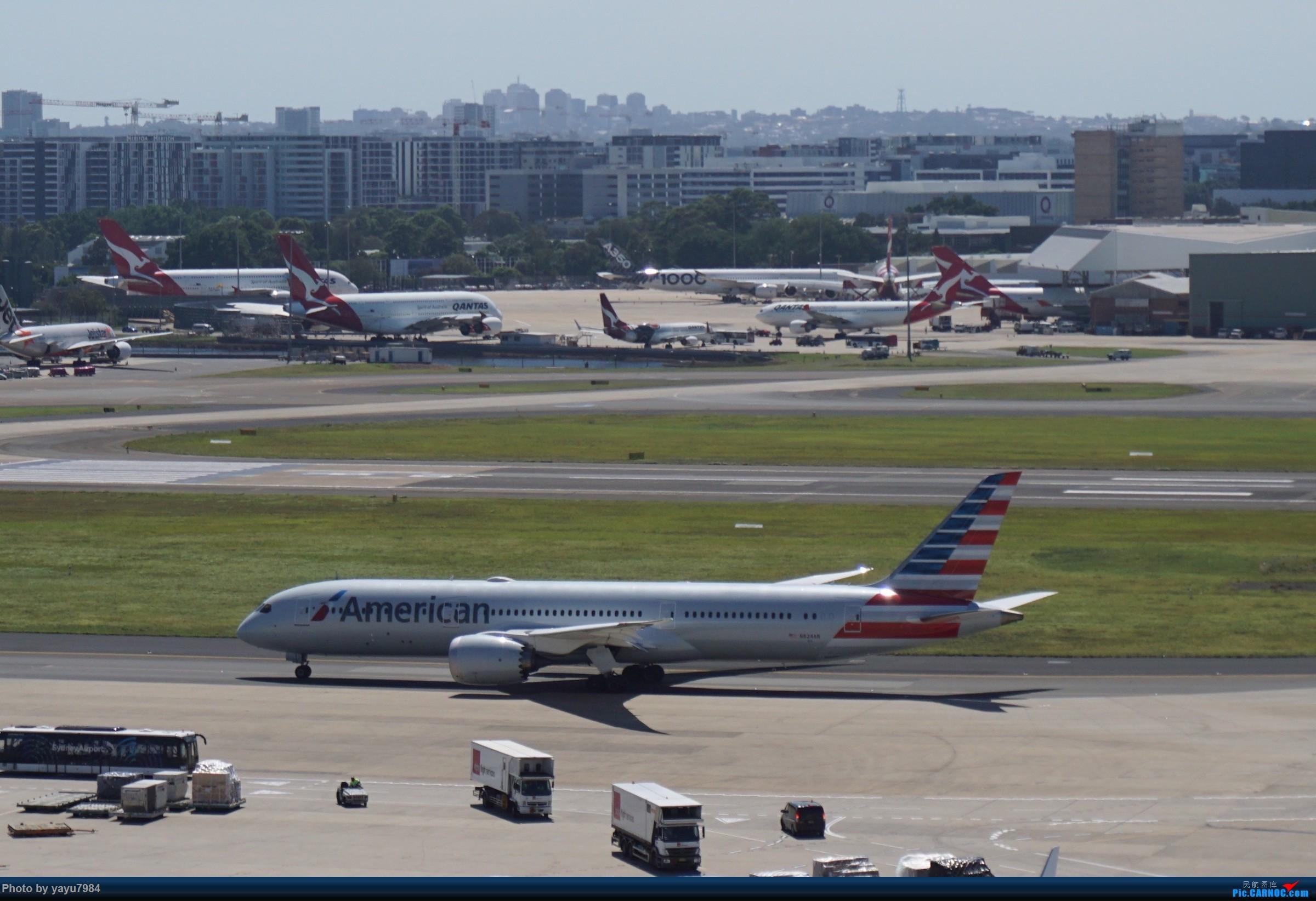 Re:[原创][SYD] 停车楼顶看宽体 BOEING 787-9 N824AN 澳大利亚悉尼金斯福德·史密斯机场