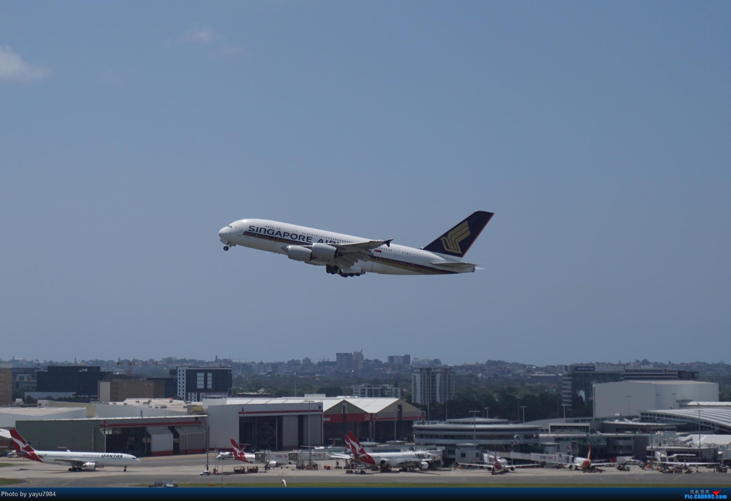Re:[原创][SYD] 停车楼顶看宽体 AIRBUS A380 9V-SKV 澳大利亚悉尼金斯福德·史密斯机场