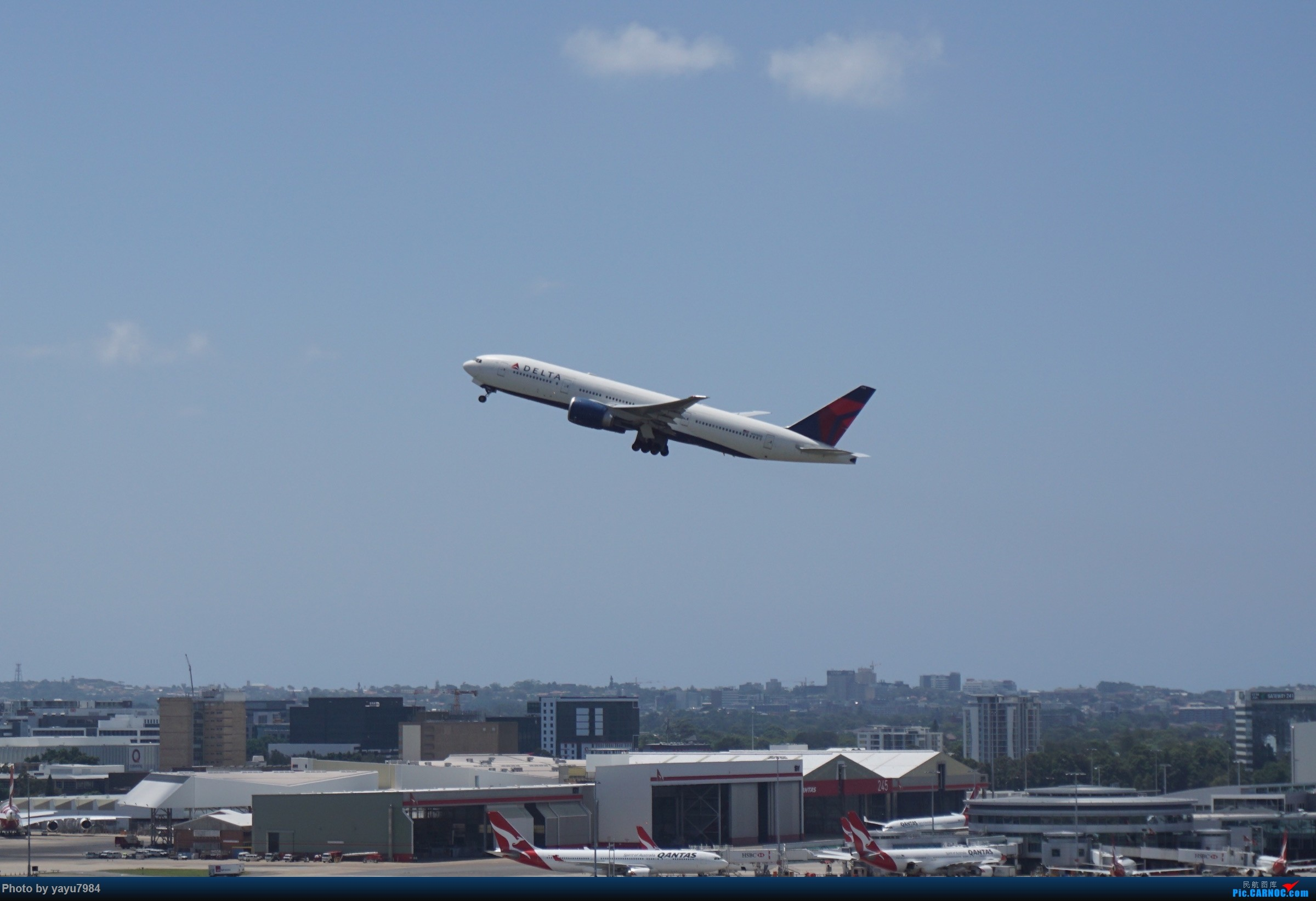 Re:[原创][SYD] 停车楼顶看宽体 BOEING 777-200LR N705DN 澳大利亚悉尼金斯福德·史密斯机场