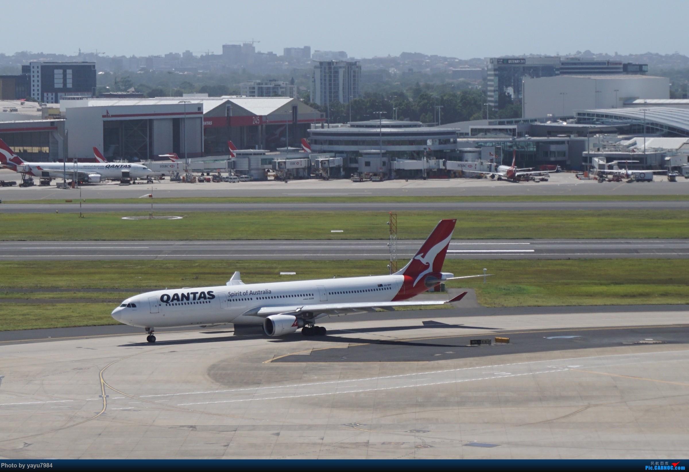 Re:[原创][SYD] 停车楼顶看宽体 AIRBUS A330-300 VH-QPF 澳大利亚悉尼金斯福德·史密斯机场