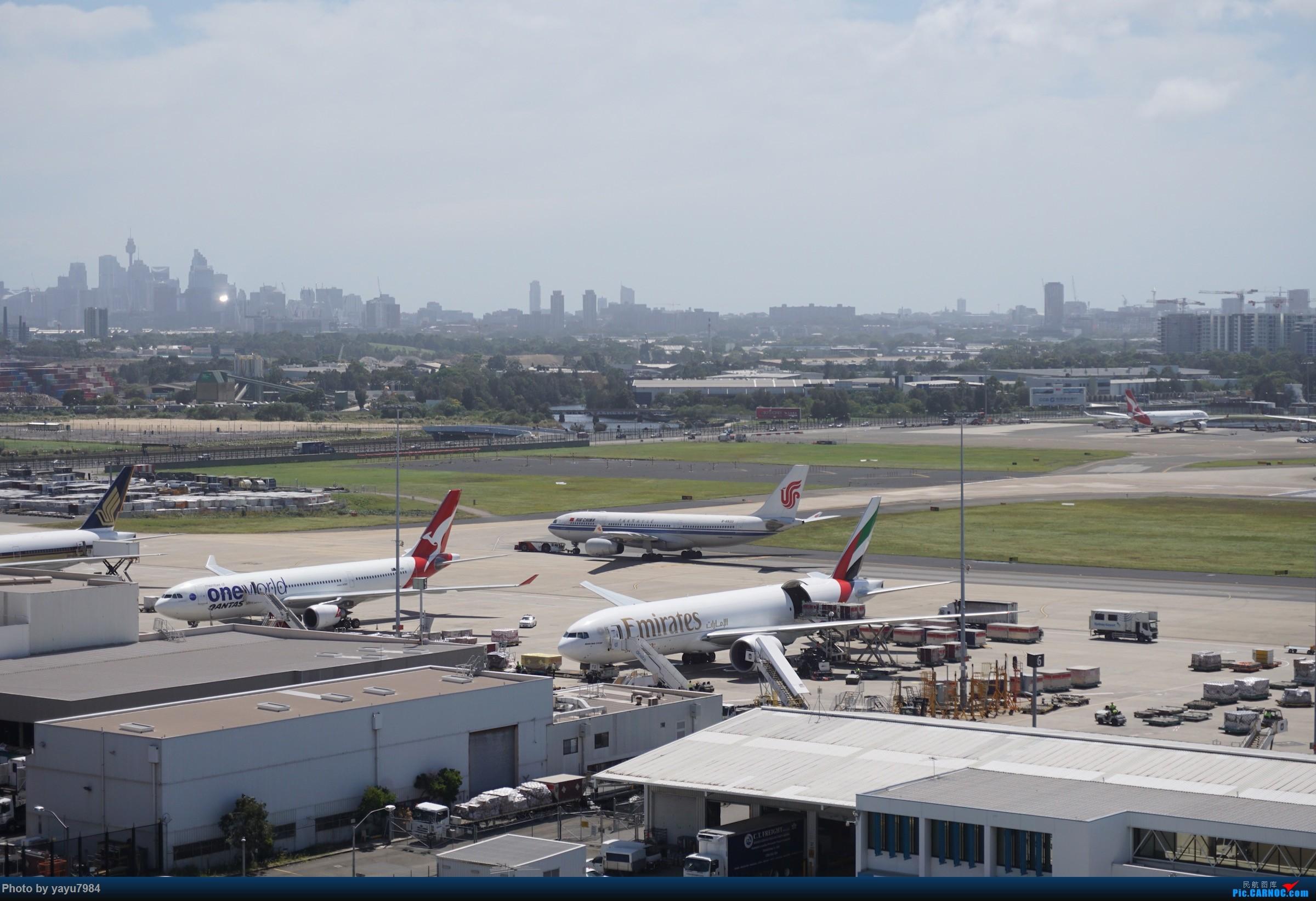 Re:[原创][SYD] 停车楼顶看宽体    澳大利亚悉尼金斯福德·史密斯机场