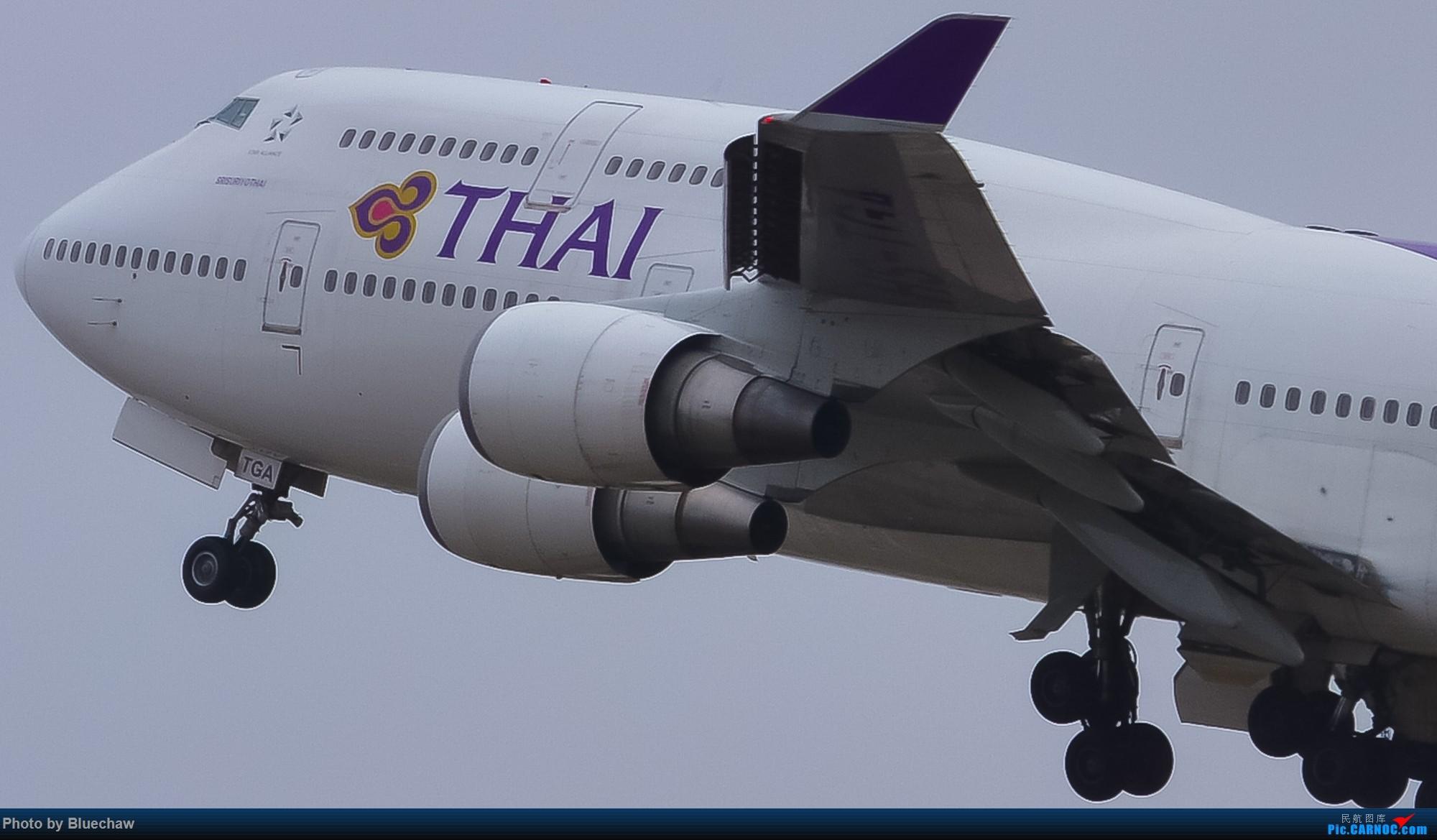Re:[原创]新人第二贴,白云烂天拍机 BOEING 747-400 HS-TGA 中国广州白云国际机场