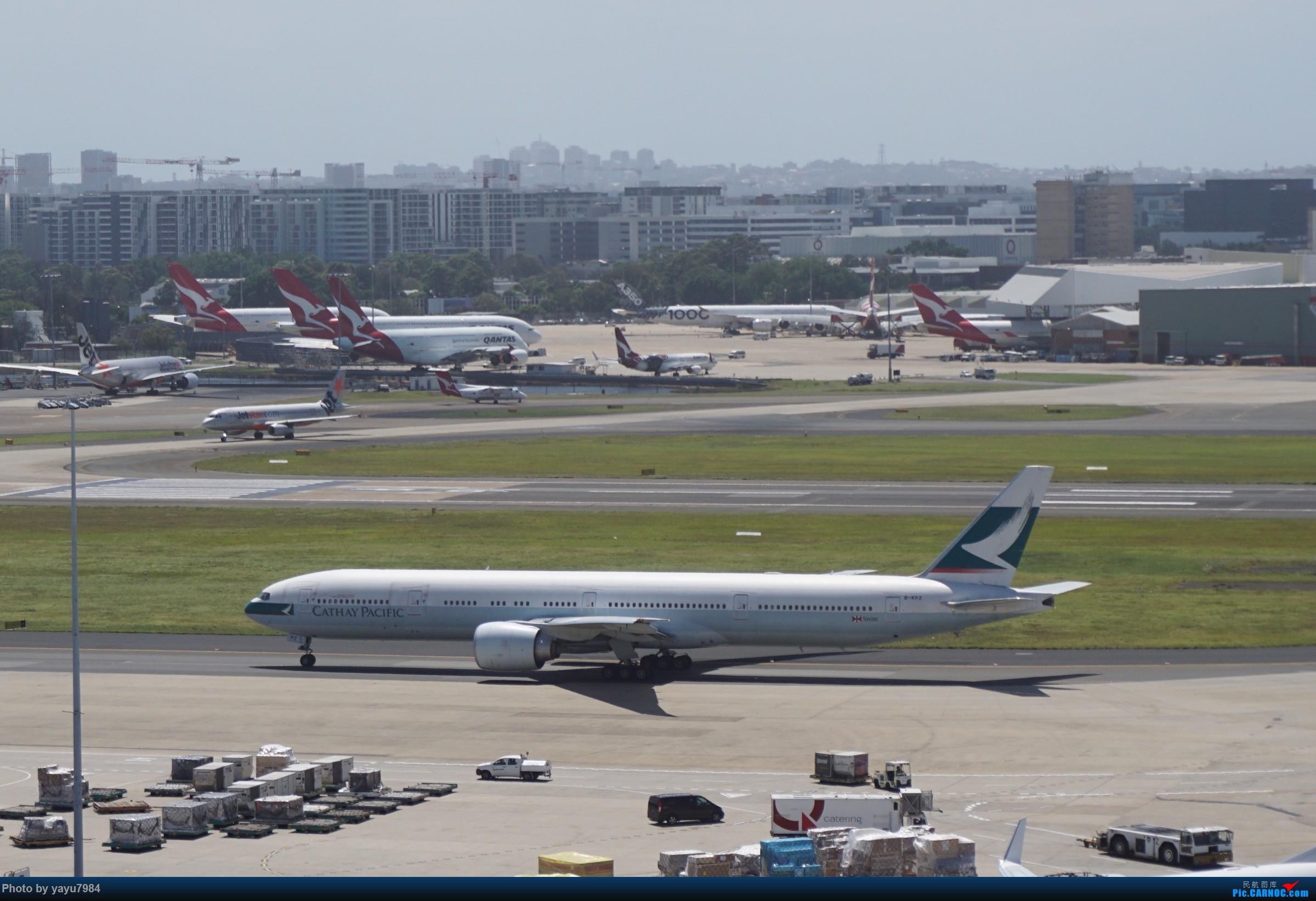 Re:[原创][SYD] 停车楼顶看宽体 BOEING 777-300ER B-KPZ 澳大利亚悉尼金斯福德·史密斯机场