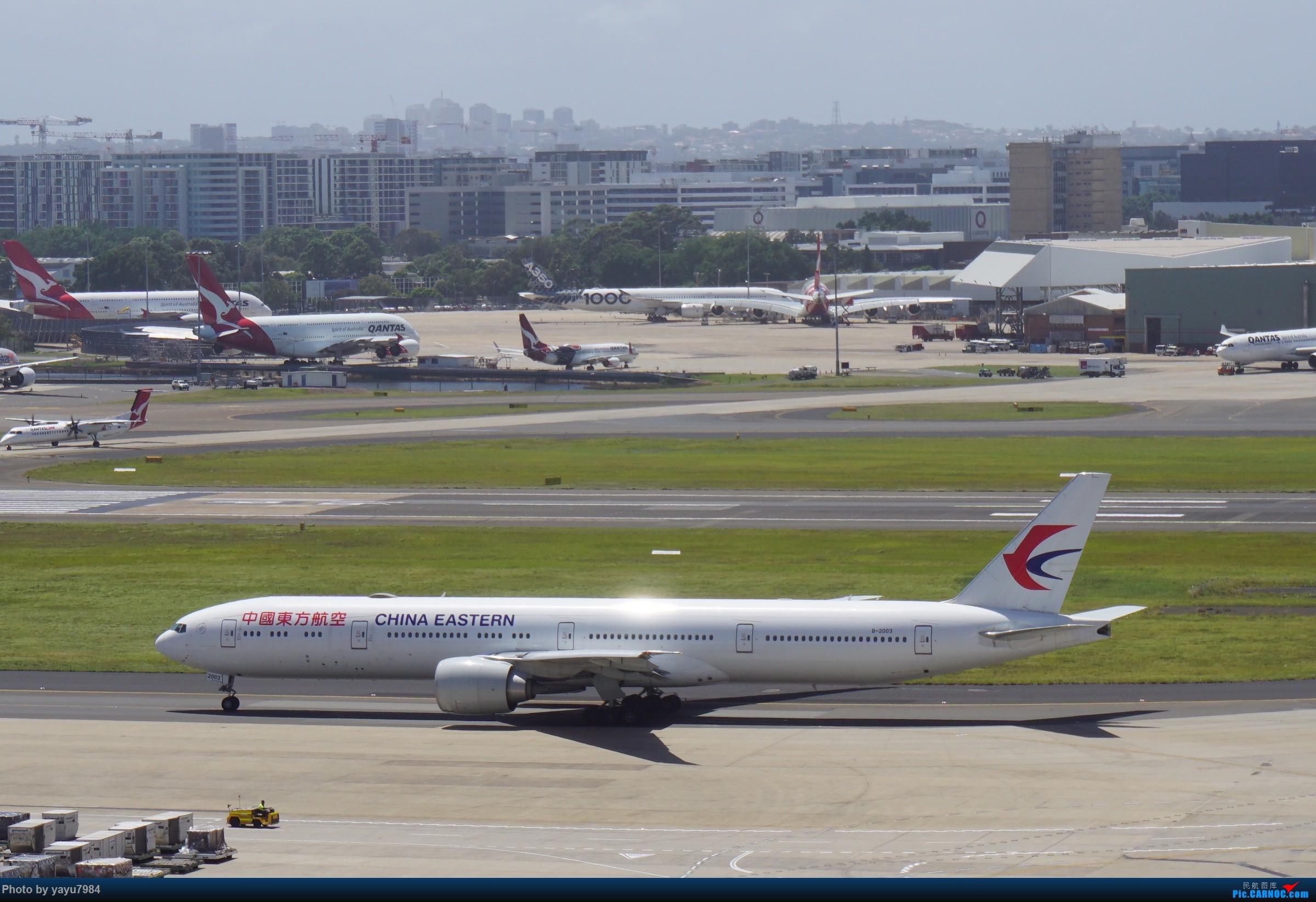 Re:[原创][SYD] 停车楼顶看宽体 BOEING 777-300ER B-2003 澳大利亚悉尼金斯福德·史密斯机场