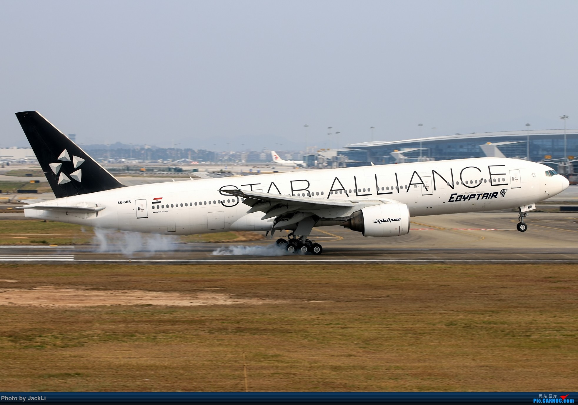 Re:[原创]【JackLi】寒假在白云机场的几次拍机~ BOEING 777-200 SU-GBR 中国广州白云国际机场