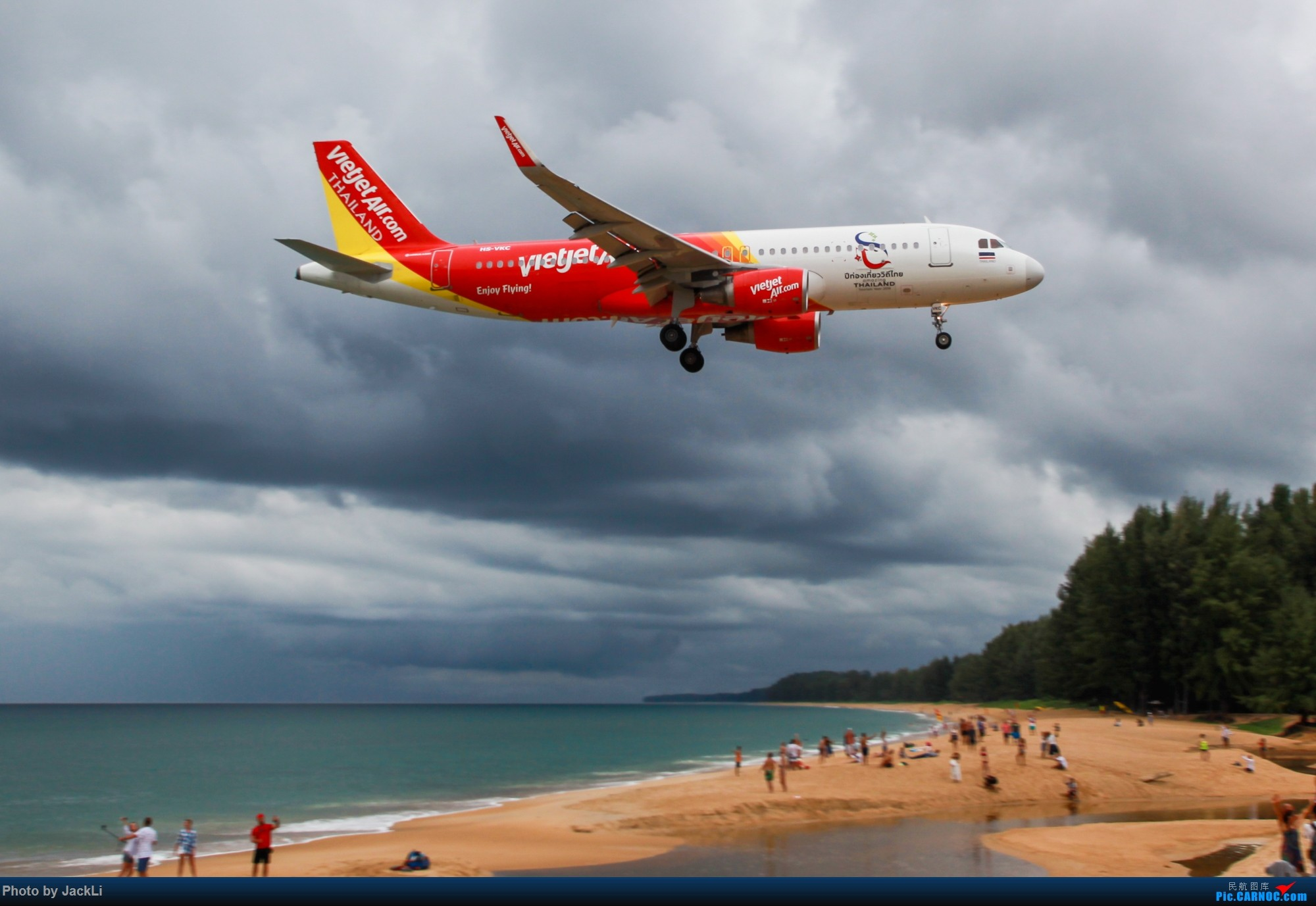 Re:[原创]【JackLi】亚洲圣马丁~普吉岛机场拍机 AIRBUS A320 HS-VKC 泰国普吉机场