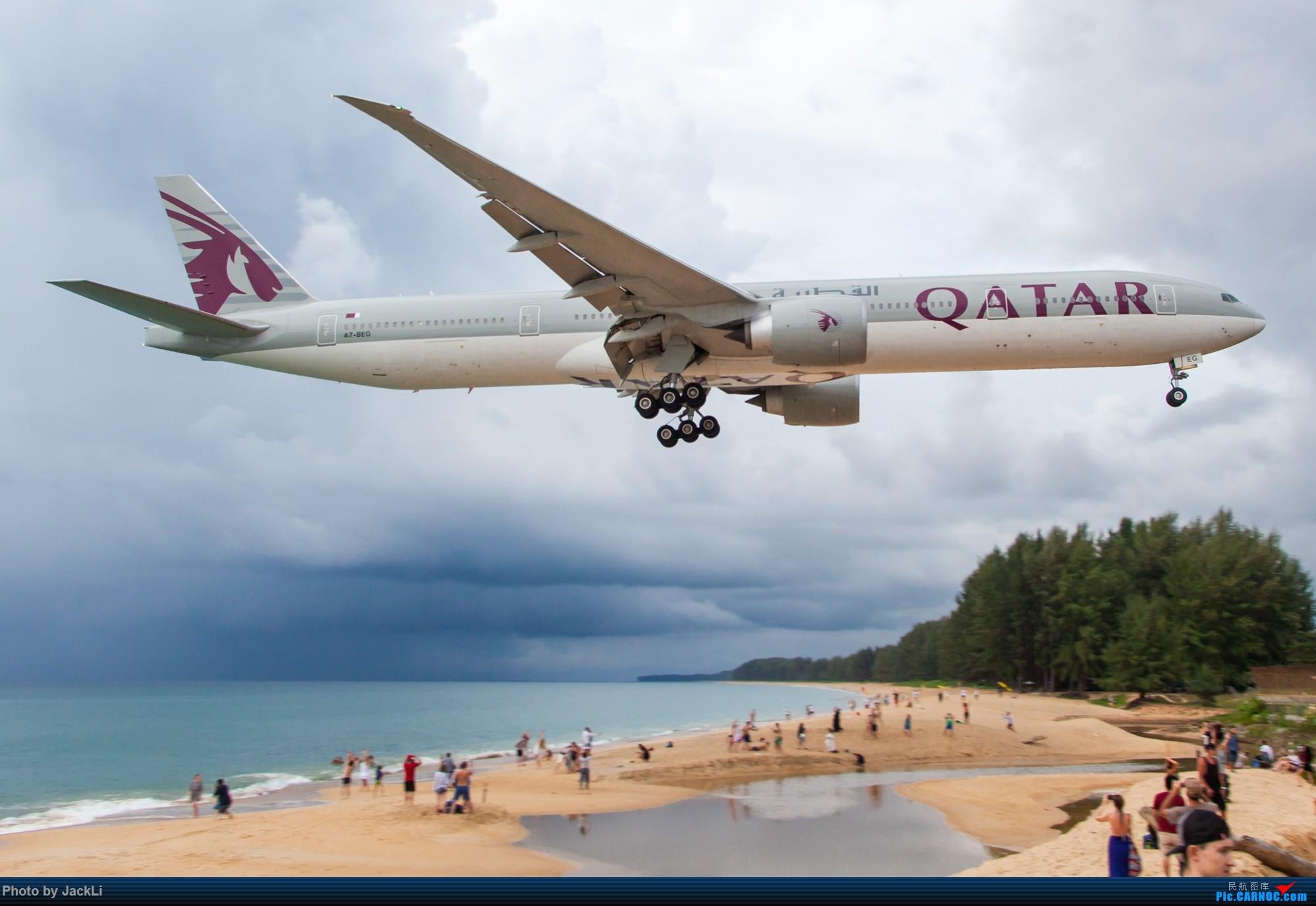 Re:[原创]【JackLi】亚洲圣马丁~普吉岛机场拍机 BOEING 777-300ER A7-BEG 泰国普吉机场