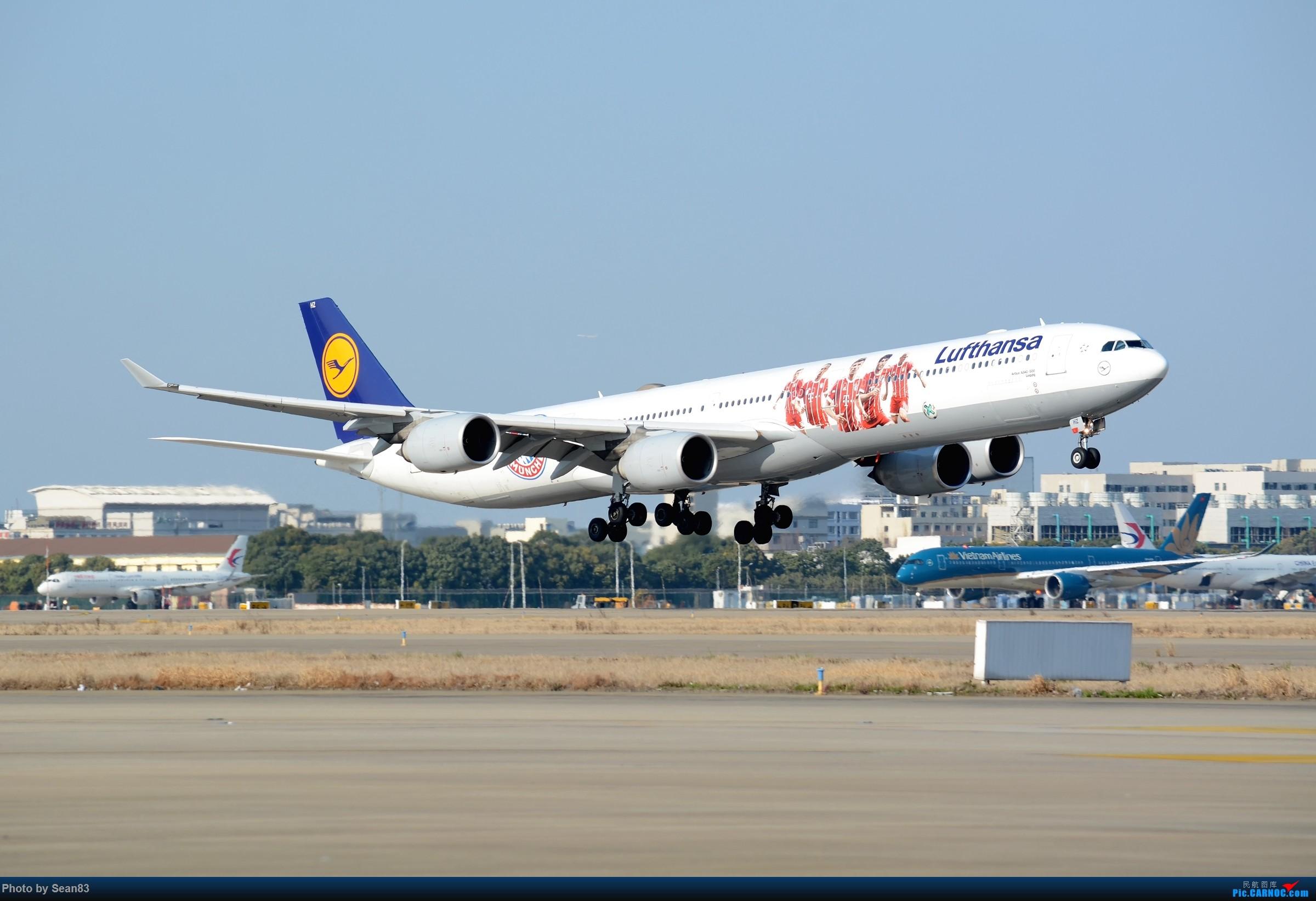 (PVG)拜仁@汉莎 AIRBUS A340-600 D-AIHZ 中国上海浦东国际机场