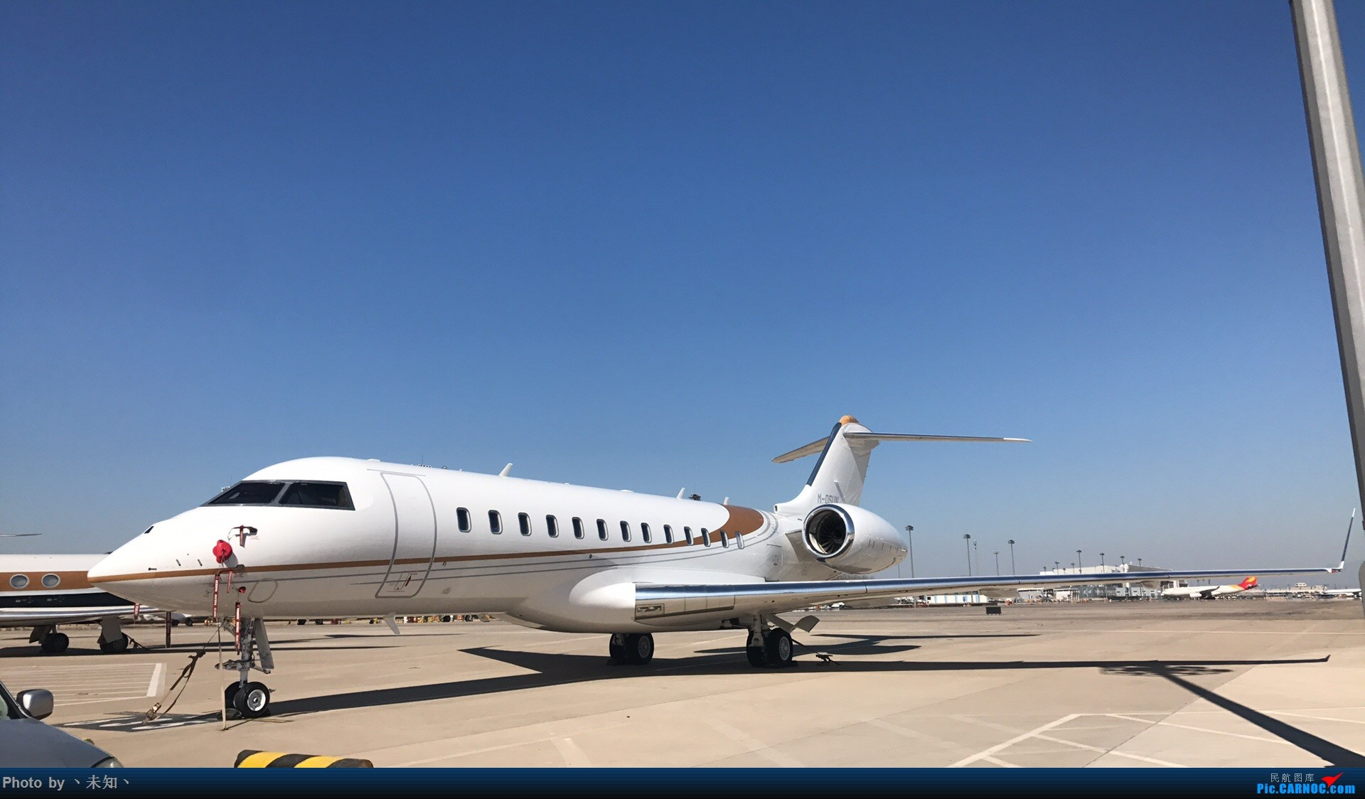 [原创]环快5000坐落北京机场 BOMBARDIER GLOBAL EXPRESS 5000 M-DSUN BEIJING
