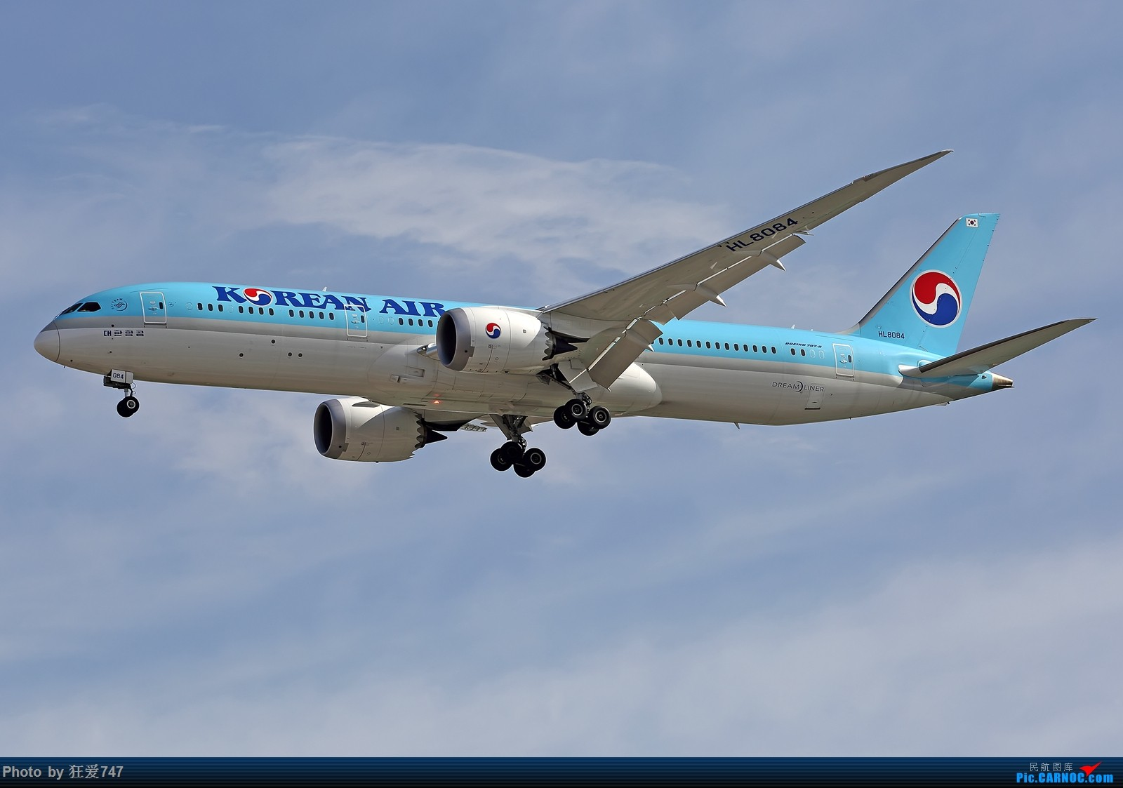 一张图:大韩789 BOEING 787-9 HL8084 中国北京首都国际机场