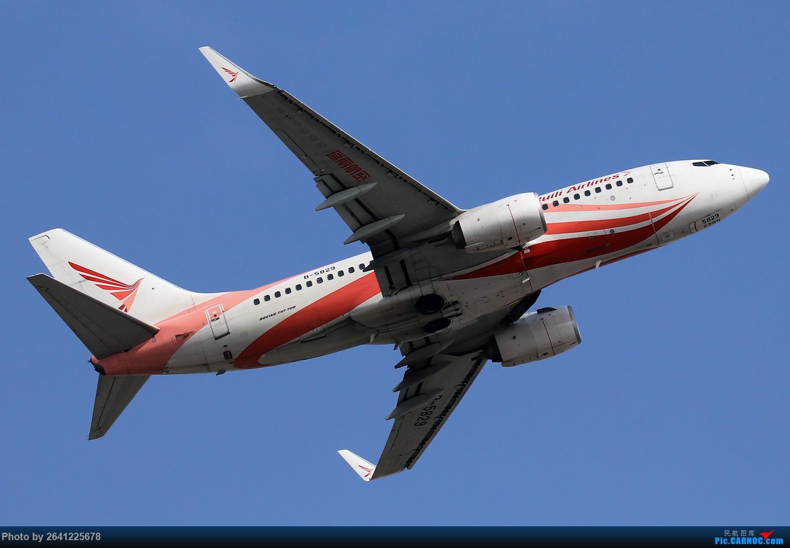 Re:[原创]【TSN】天津滨海国际机场半日游(按注册号1~9发图) BOEING 737-700 B-5829 中国天津滨海国际机场
