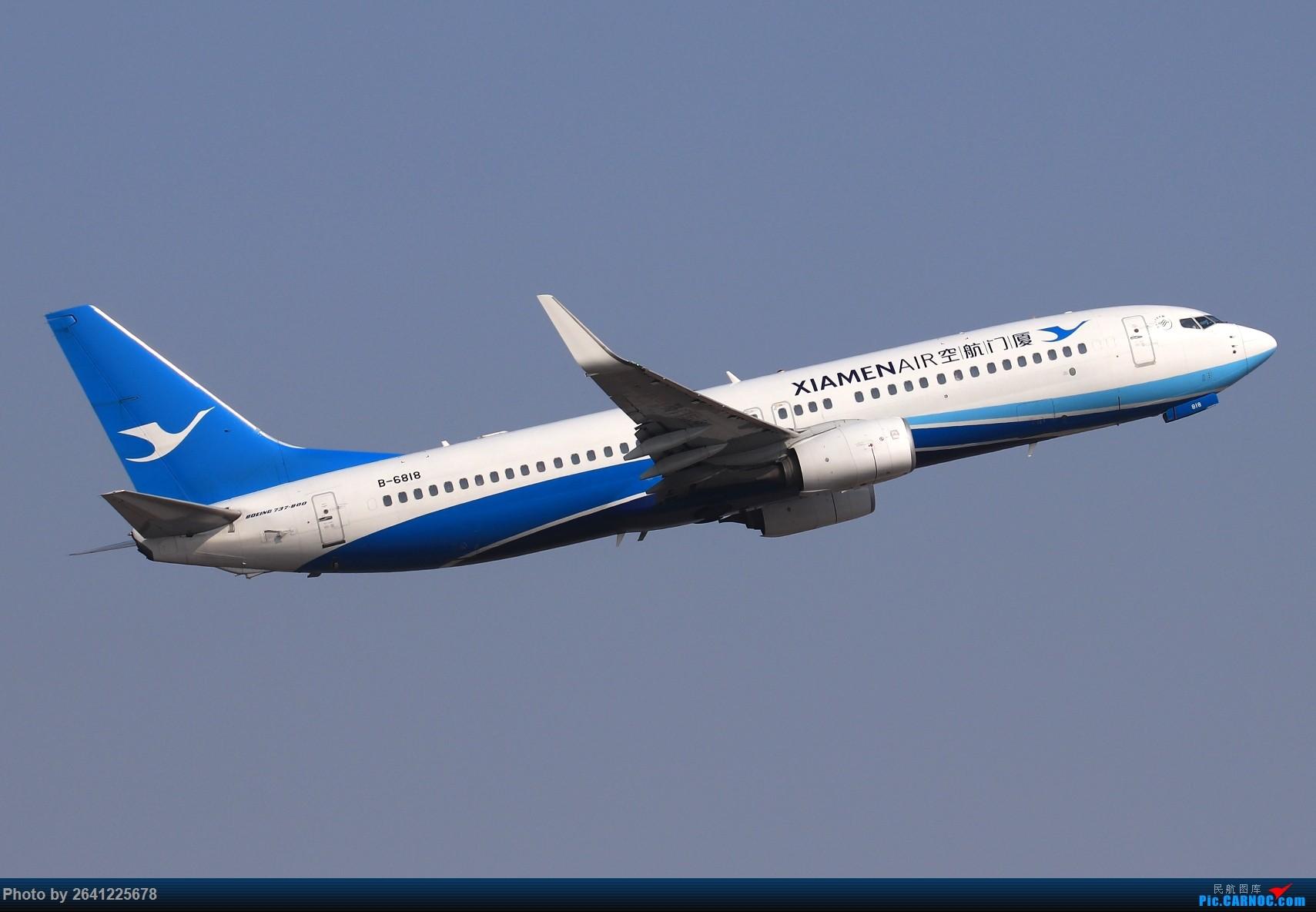 Re:[原创]【TSN】天津滨海国际机场半日游(按注册号1~9发图) BOEING 737-800 B-6818 中国天津滨海国际机场