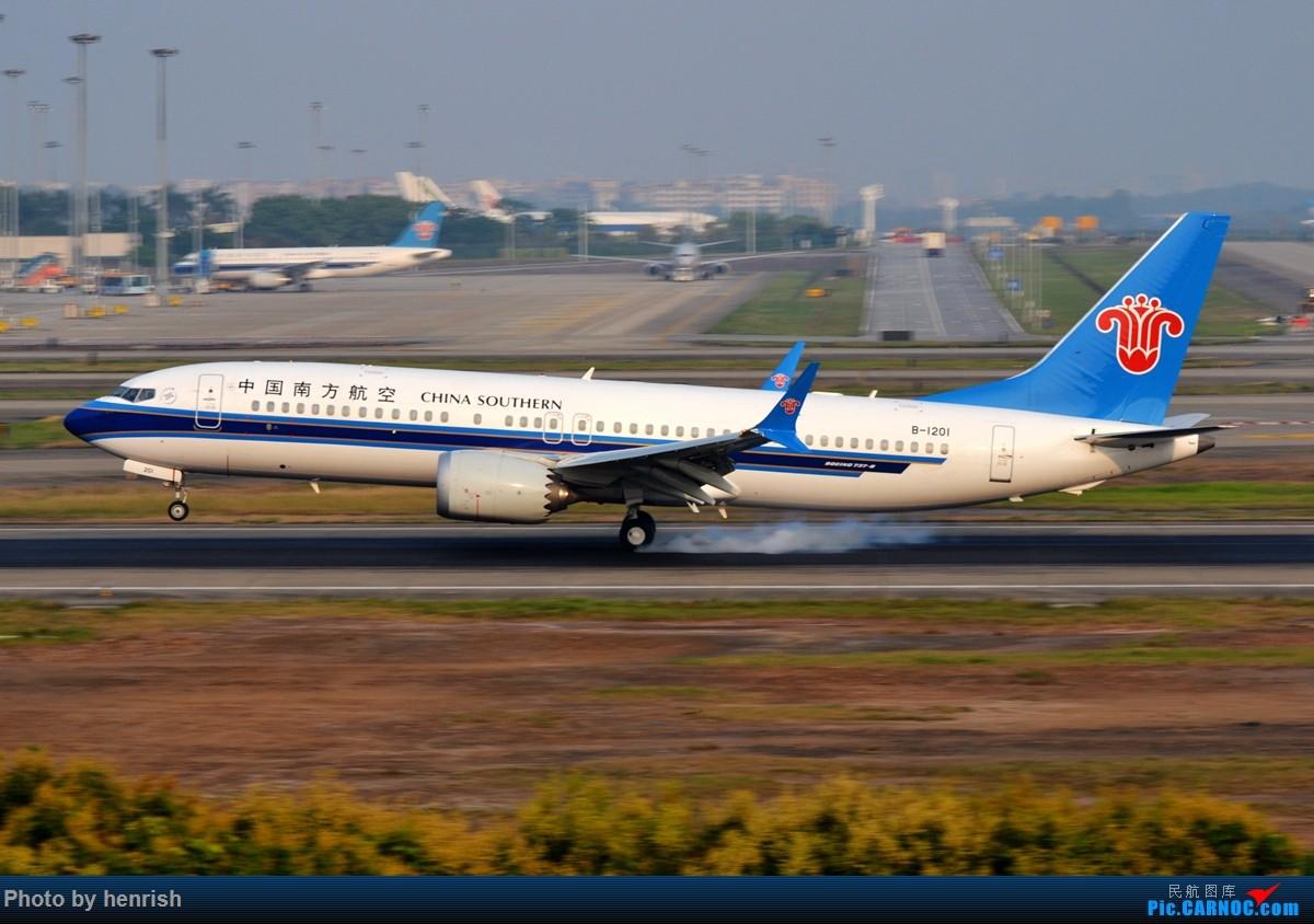 [原创]【肥威的CAN】雾天愚人节·落地·擦烟(伪) BOEING 737MAX-8 B-1201 中国广州白云国际机场