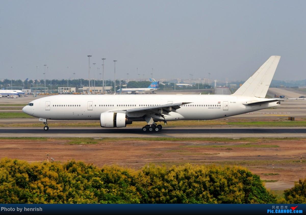 Re:[原创]【肥威的CAN】雾天愚人节·落地·擦烟(伪) BOEING 777-200ER SU-GBS 中国广州白云国际机场