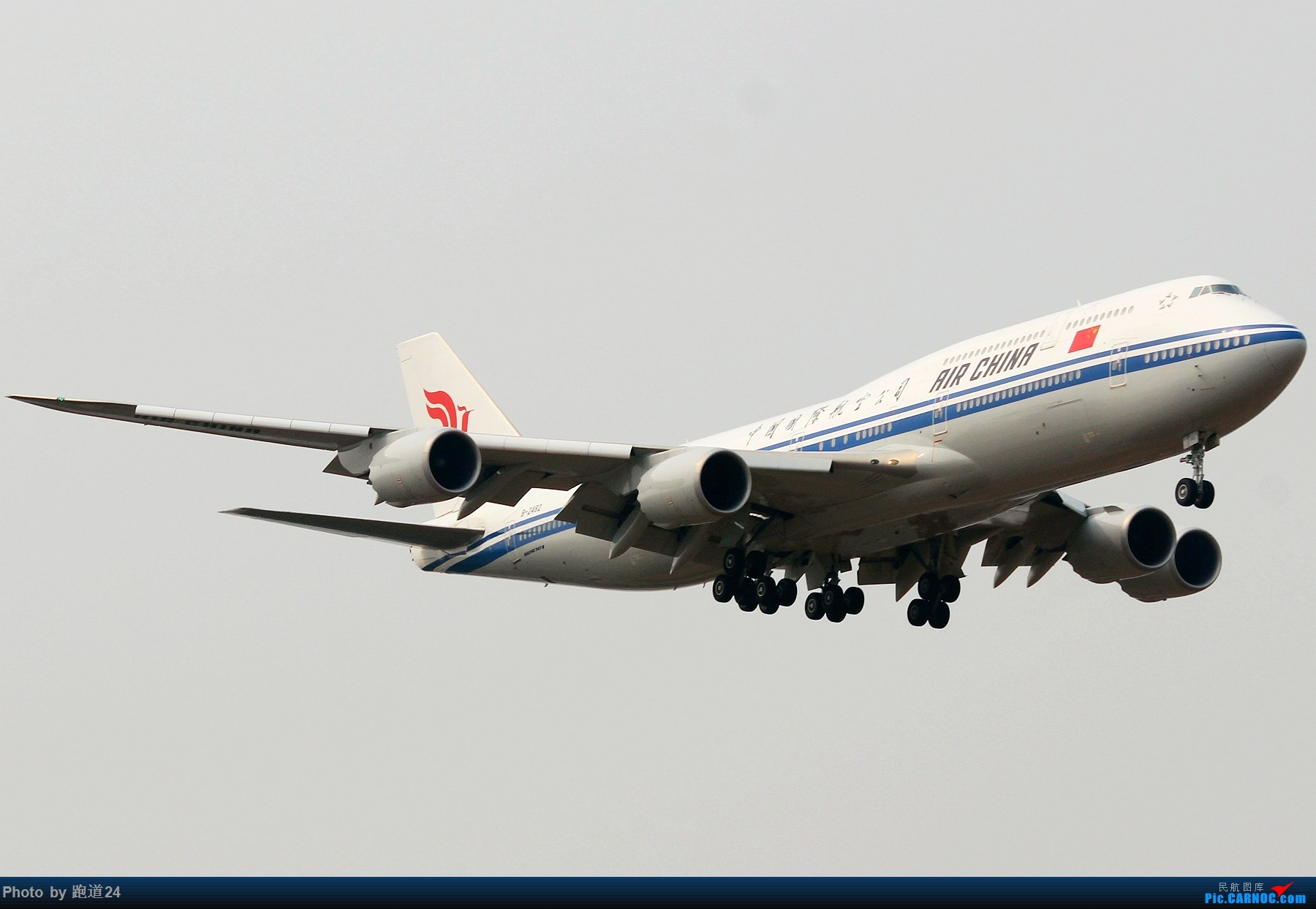 [原创][多图党]国航B748落地CTU 1800*1200 BOEING 747-8I B-2482 中国成都双流国际机场