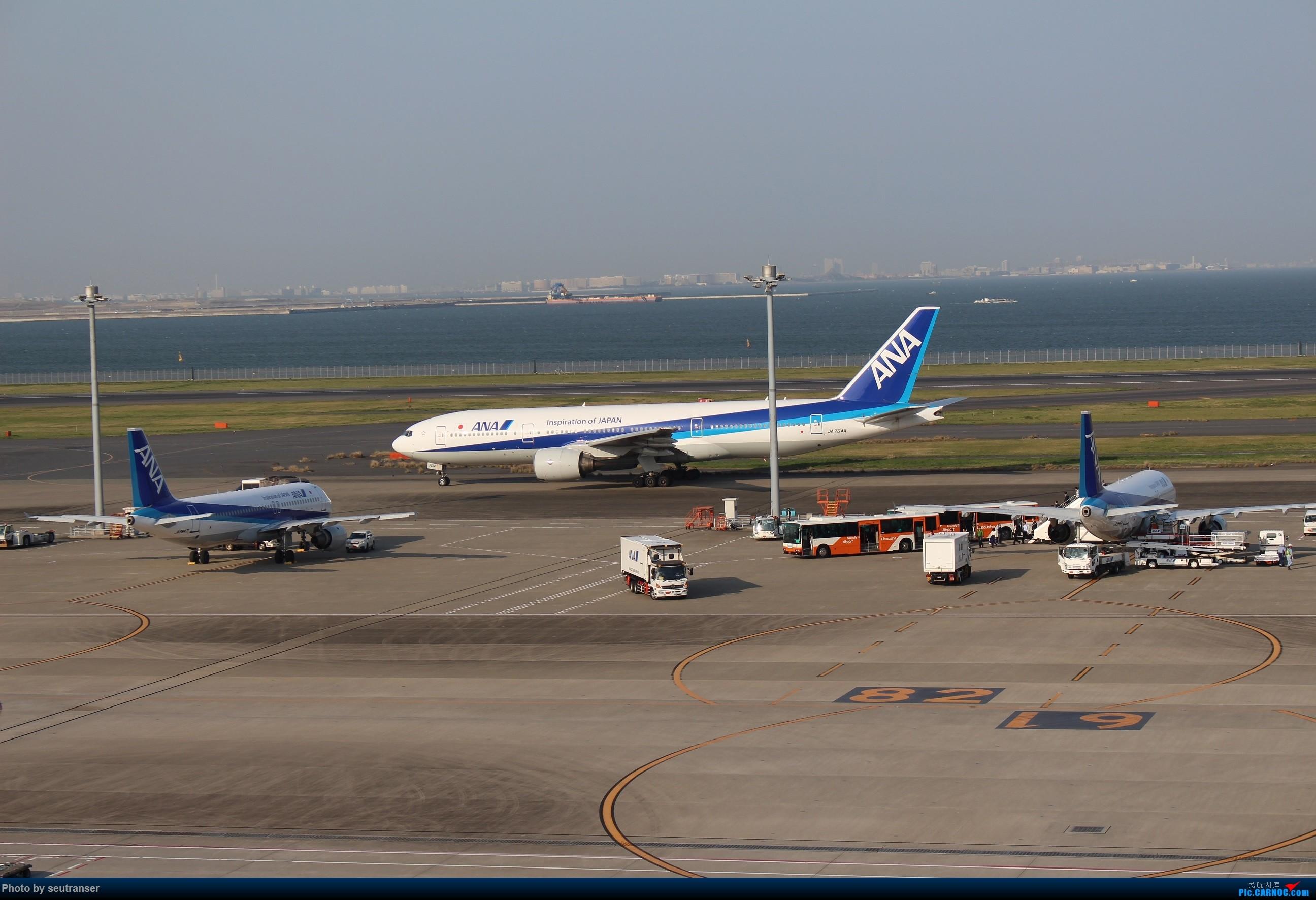 Re:迟到一年的游记,记第一次出国游—日本 东航往返+ANA国内线 BOEING 777-200 JA704A 日本东京羽田国际机场