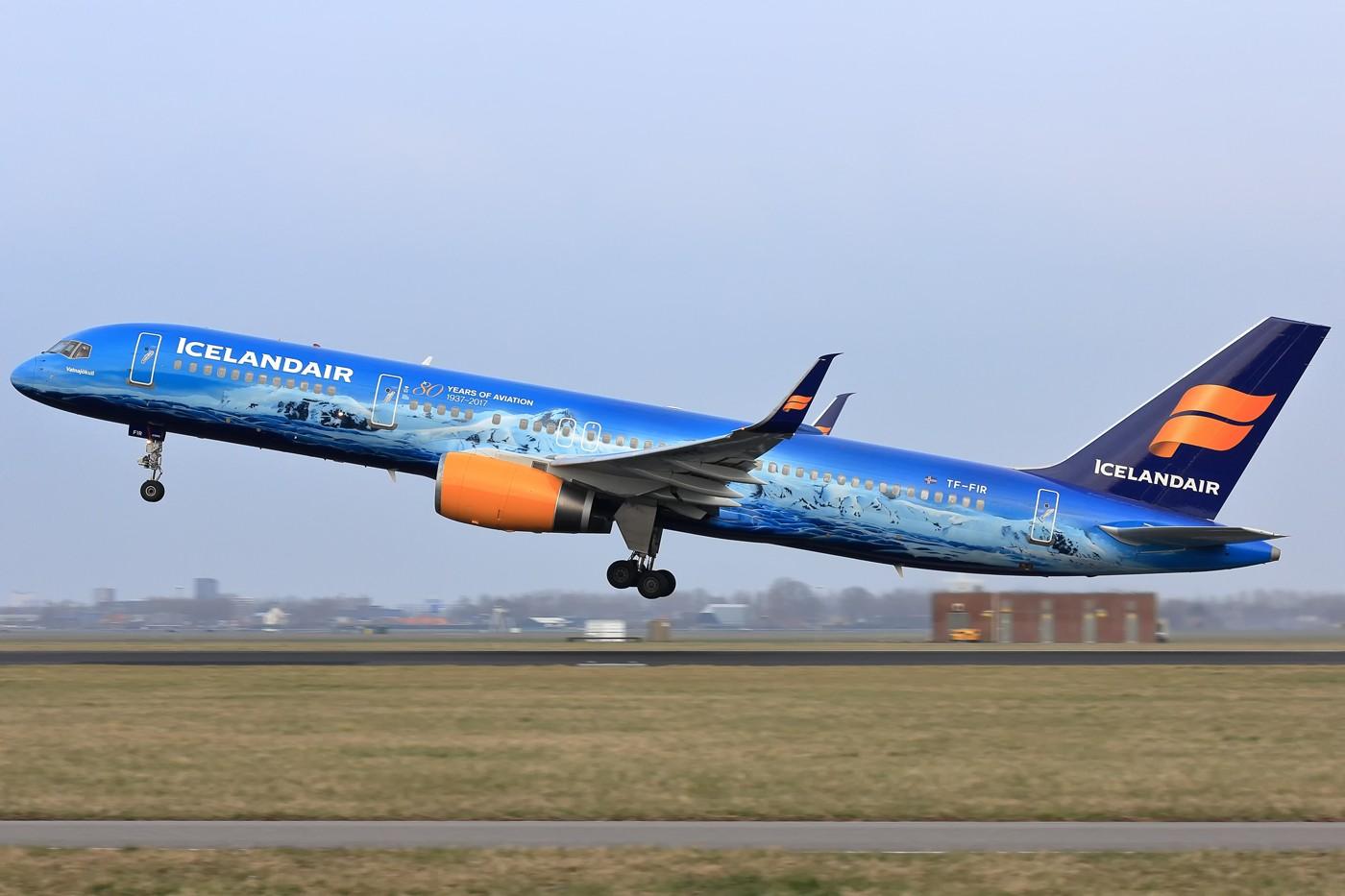 [原创]【AMS】冰岛航空B757 80周年冰山特别涂装 BOEING 757-200 TF-FIR 荷兰阿姆斯特丹史基浦机场