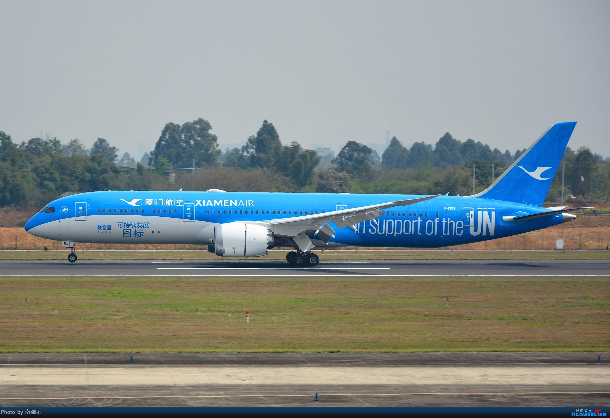 Re:CTU 厦航UN可持续发展图标彩绘789左右两侧面 BOEING 787-9 B-1356 中国成都双流国际机场