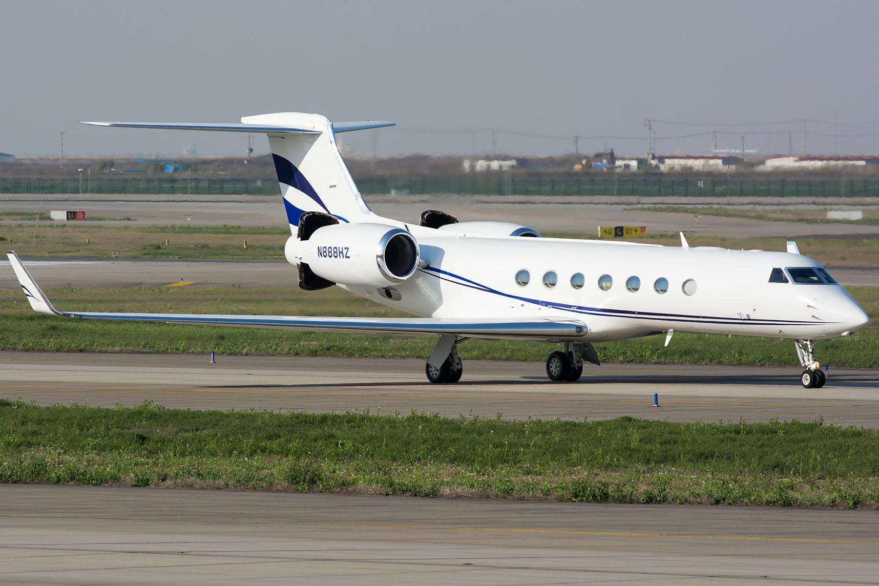 [原创]【PVG】公务一只 GULFSTREAM G550 N888HZ 中国上海浦东国际机场