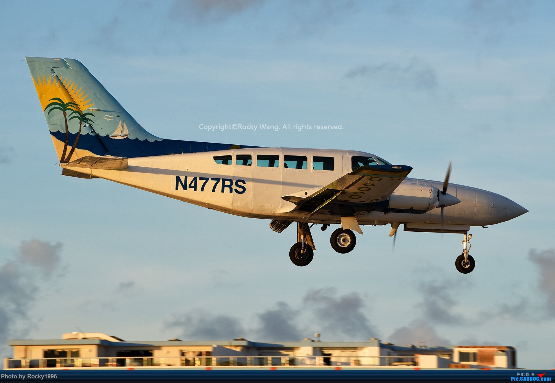 Re:[原创]My endless Caribbean dream——圣马丁朱莉安娜公主机场拍机记 CESSNA 402C N477RS 荷属安的列斯群岛朱利安娜公主机场