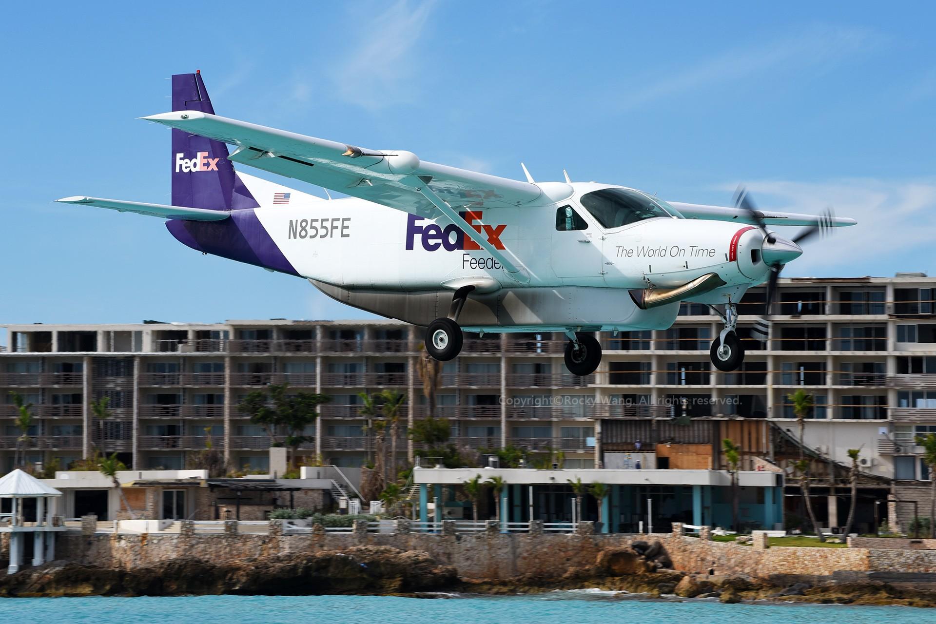 Re:[原创]My endless Caribbean dream——圣马丁朱莉安娜公主机场拍机记 CESSNA 208B SUPER CARGOMASTER N855FE 荷属安的列斯群岛朱利安娜公主机场