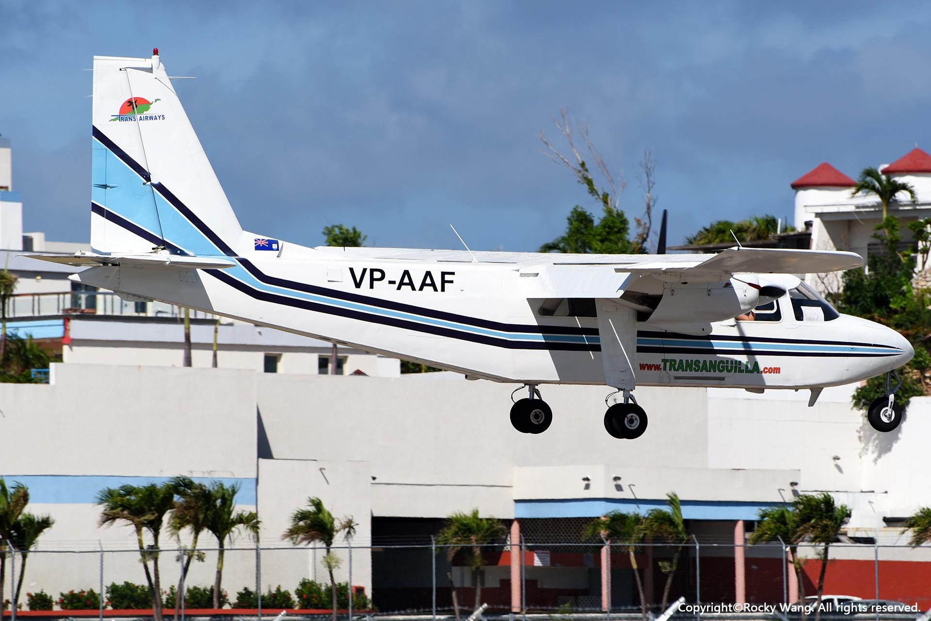 Re:[原创]My endless Caribbean dream——圣马丁朱莉安娜公主机场拍机记 BRITTEN-NORMAN BN-2B-21 ISLANDER VP-AAF 荷属安的列斯群岛朱利安娜公主机场