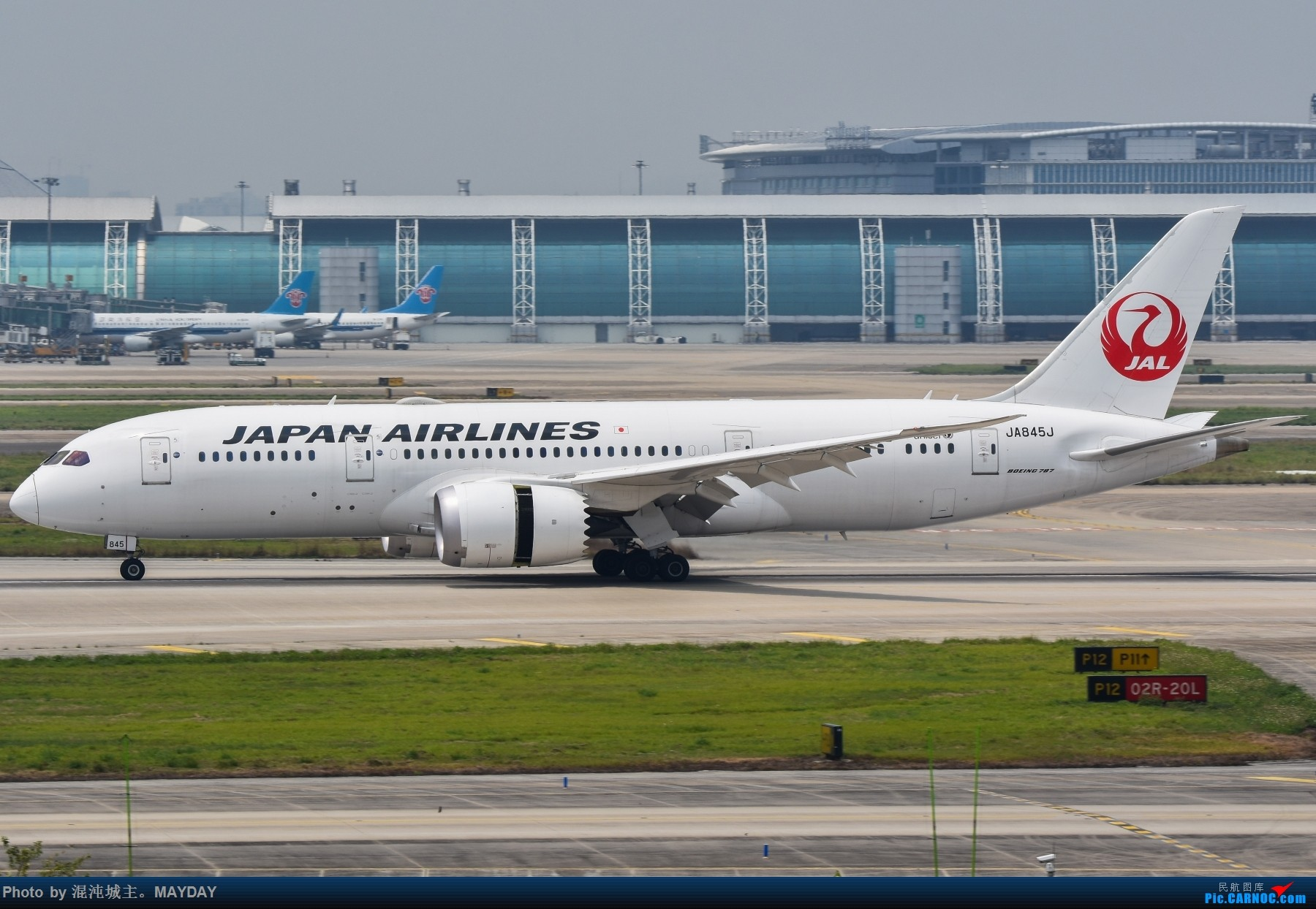 Re:[原创]广州的一些普通货. BOEING 787-8 JA845J 中国广州白云国际机场