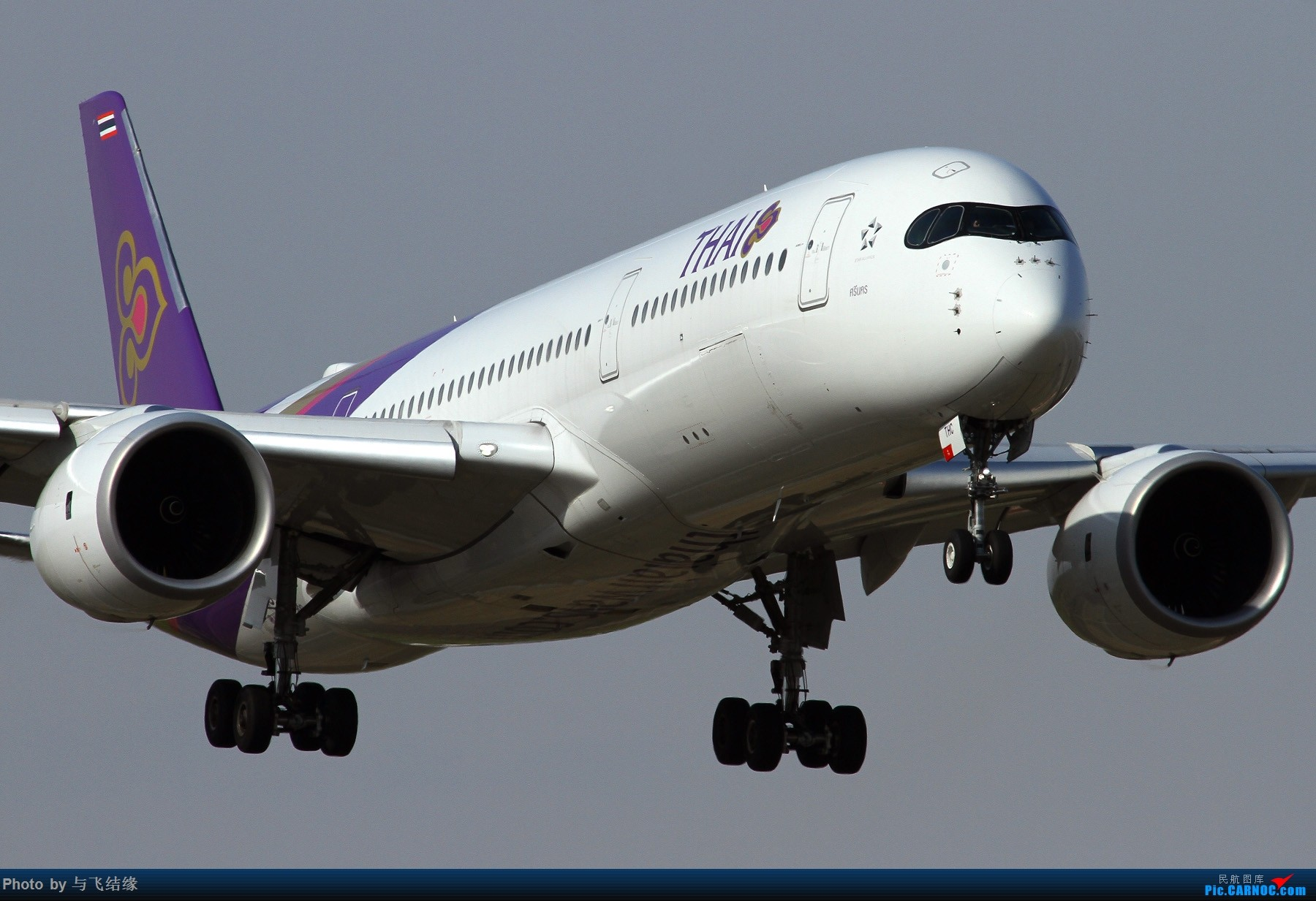 Re:[原创]进近中的太美丽Airbus A350-900与Boeing 777-300ER特写! AIRBUS A350-900 HS-THC 中国北京首都国际机场
