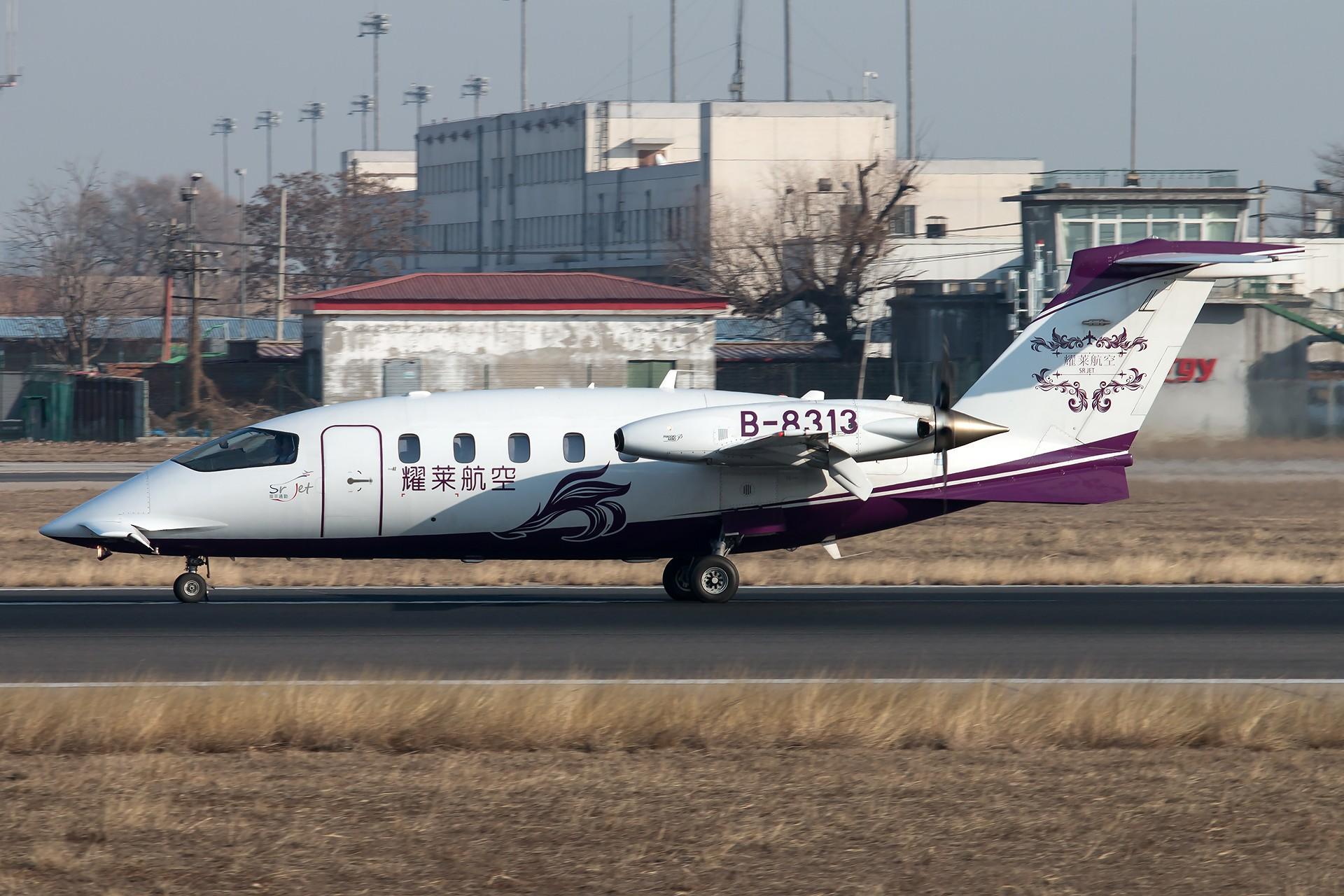 [原创][一图党] 耀莱航空 Piaggio P-180 1920*1280 PIAGGIO P-180 AVANTI II B-8313 中国北京首都国际机场