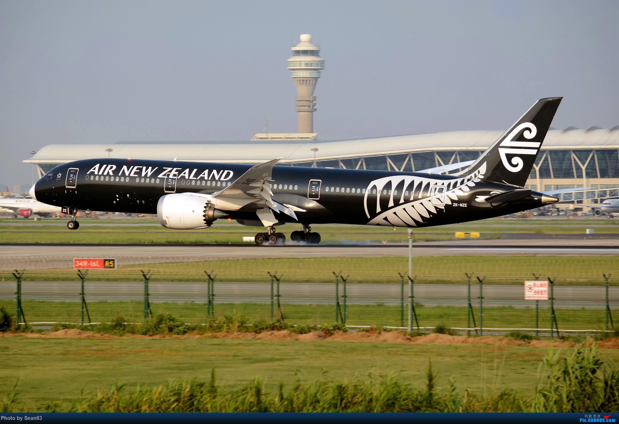 Re:[原创](PVG) 黑白配 BOEING 787-9 ZK-NZE 中国上海浦东国际机场