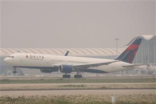 达美763浦东机场起飞(N152DL)