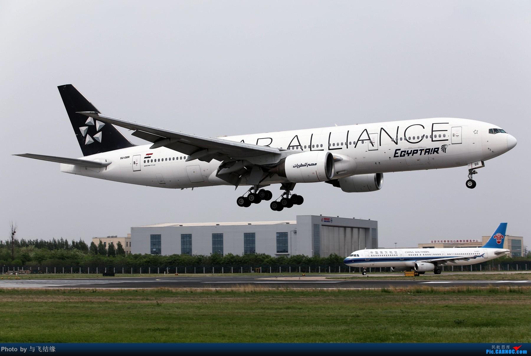 [原创]埃及航空星空联盟涂装Boeing 777-200ER. BOEING 777-200ER SU-GBR 中国北京首都国际机场