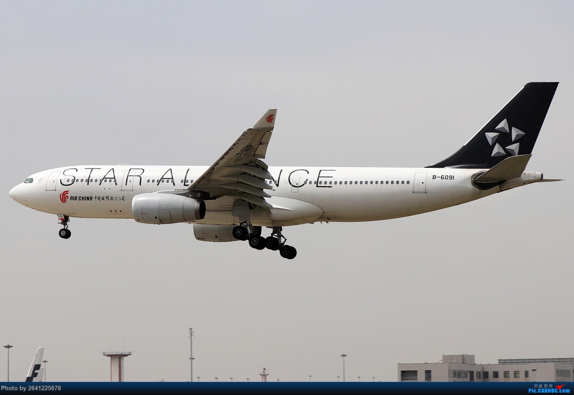 Re:[原创]轻霾去拍机,遇见阿尔及利亚、埃及星星、华航333等 AIRBUS A330-200 B-6091 中国北京首都国际机场