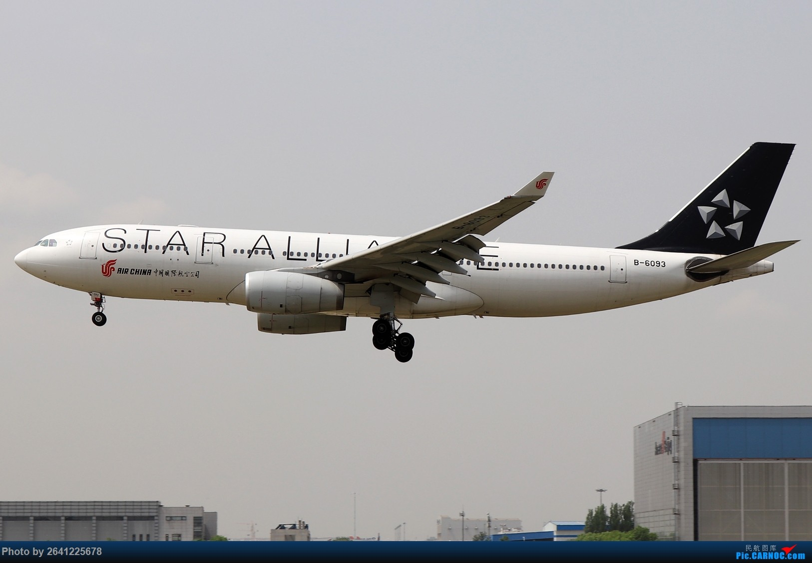 Re:[原创]轻霾去拍机,遇见阿尔及利亚、埃及星星、华航333等 AIRBUS A330-200 B-6093 中国北京首都国际机场