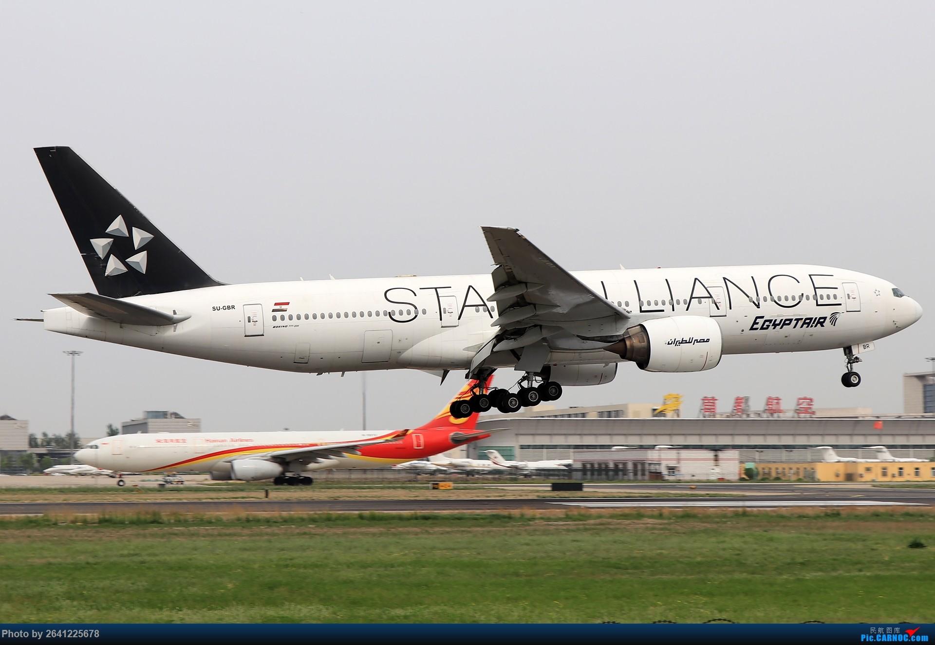 Re:[原创]轻霾去拍机,遇见阿尔及利亚、埃及星星、华航333等 BOEING 777-200 SU-GBR 中国北京首都国际机场