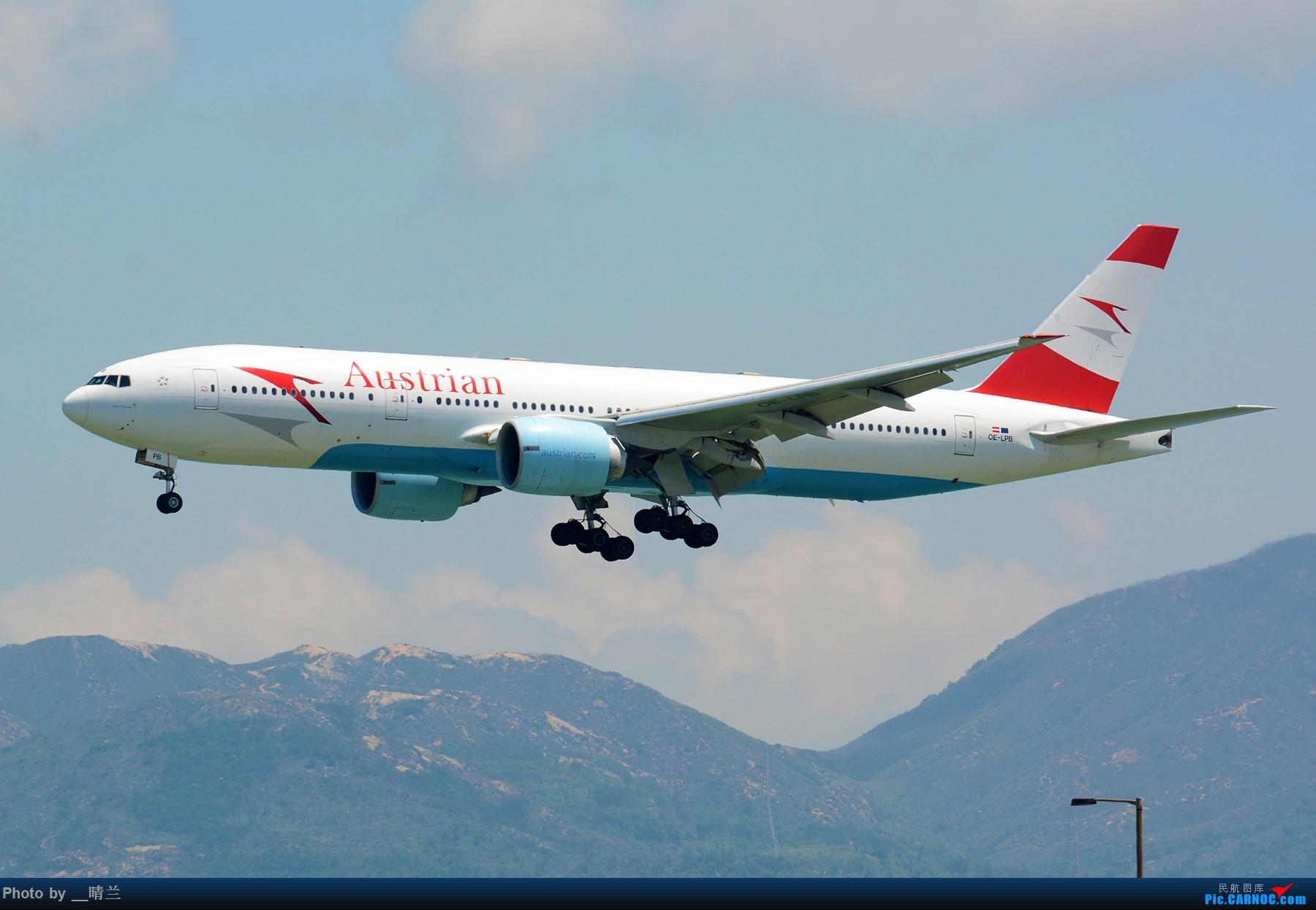 Re:[原创]上不去的HKG观景台... BOEING 777-200 OE-LPB 中国香港国际机场
