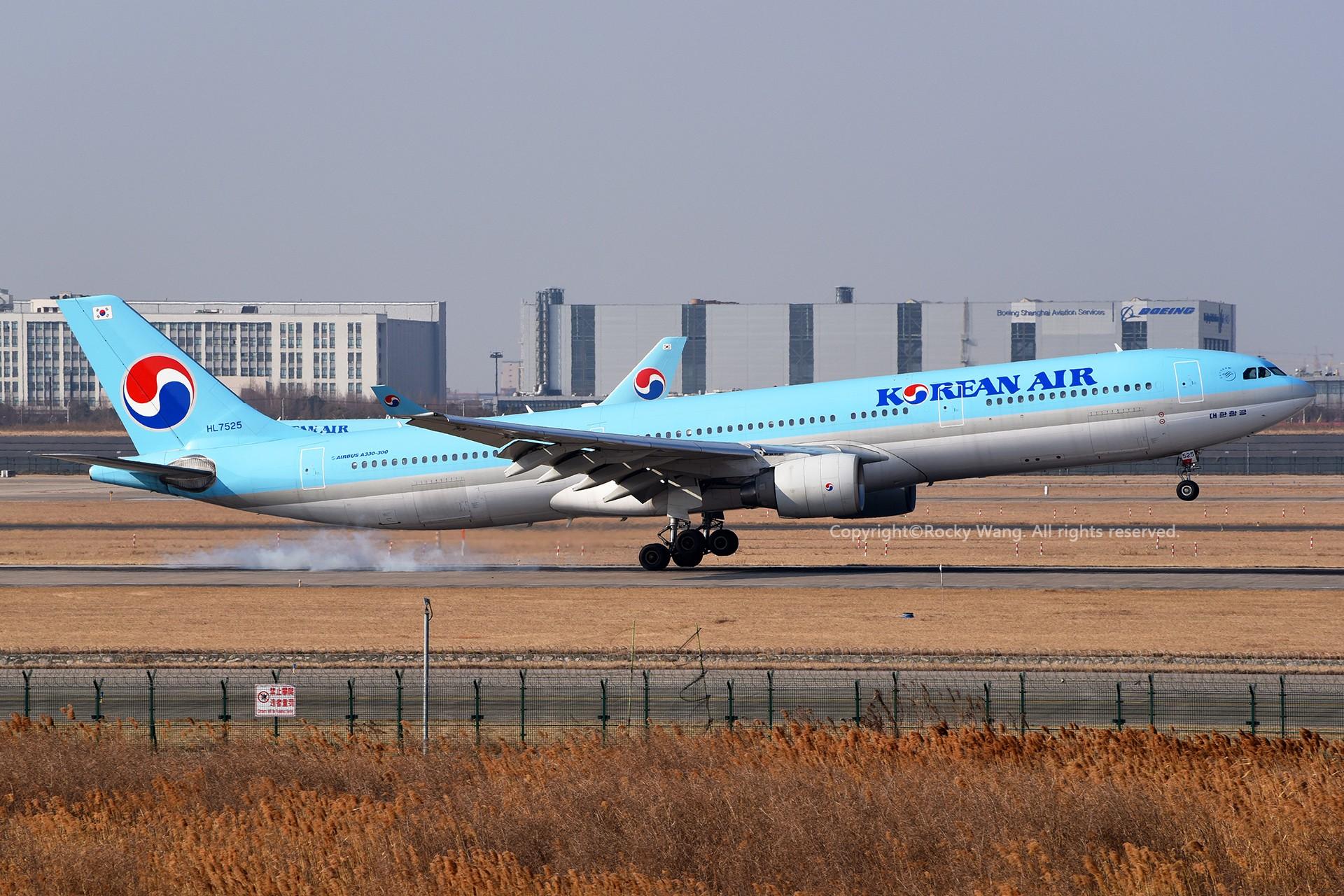 Re:[原创]A330s Around the World AIRBUS A330-322 HL7525 中国上海浦东国际机场