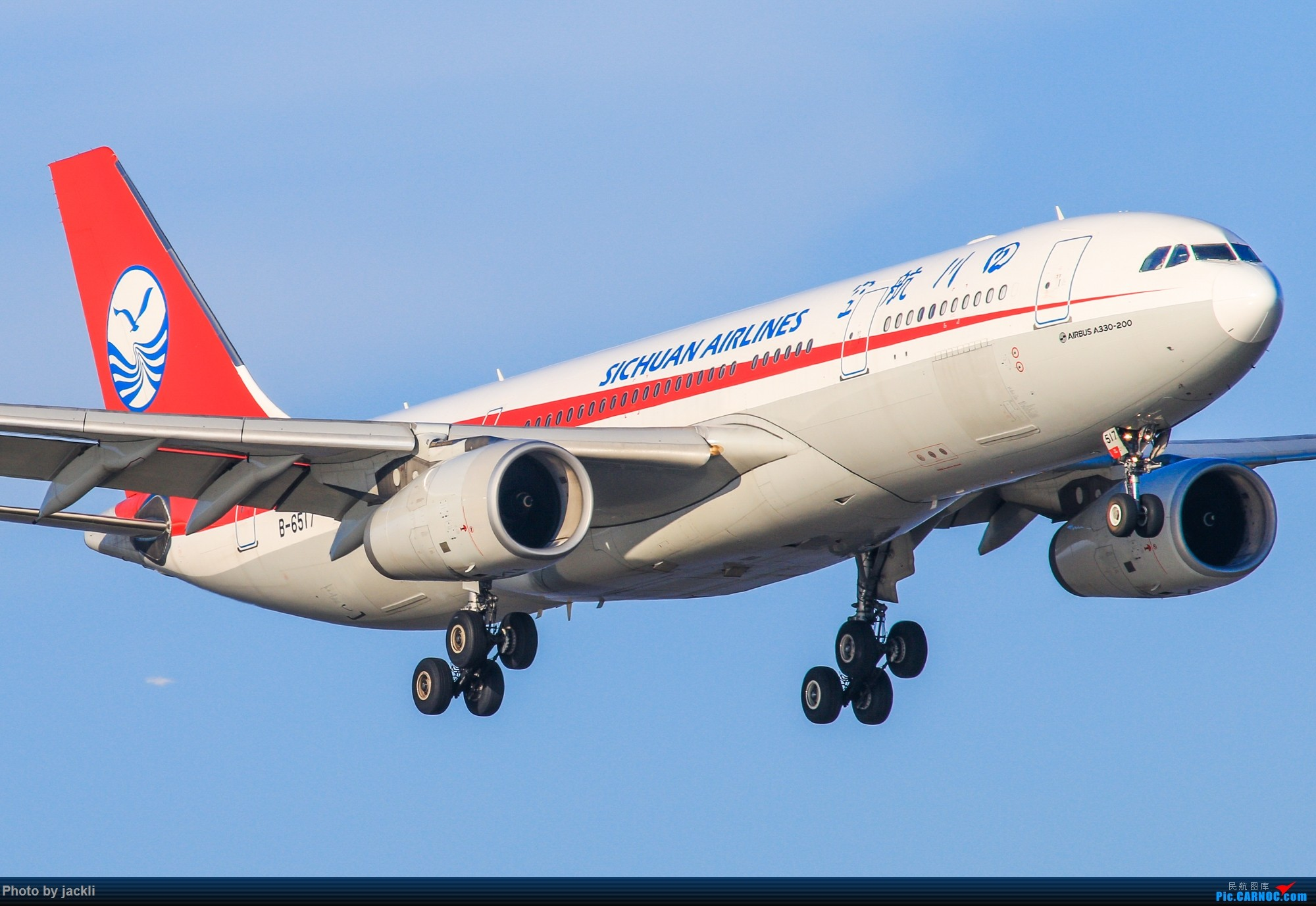 [原创]【JackLi】抓住好天的尾巴~川航330在珠海训练~ AIRBUS A330-200 B-6517 中国珠海金湾机场
