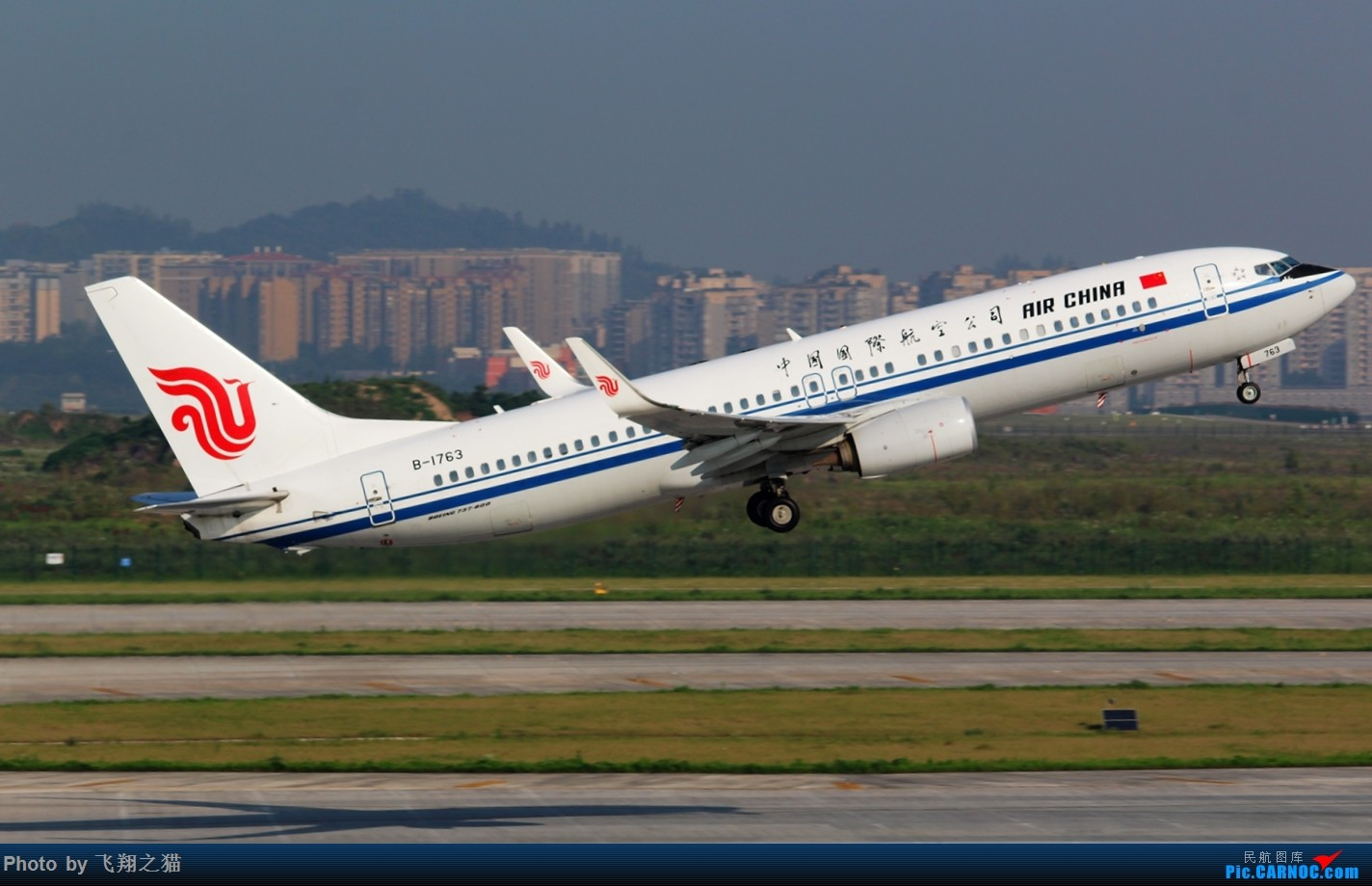 Re:CKG拍机(酷热拍机,收获满满!) BOEING 737-800 B-1763 重庆江北国际机场