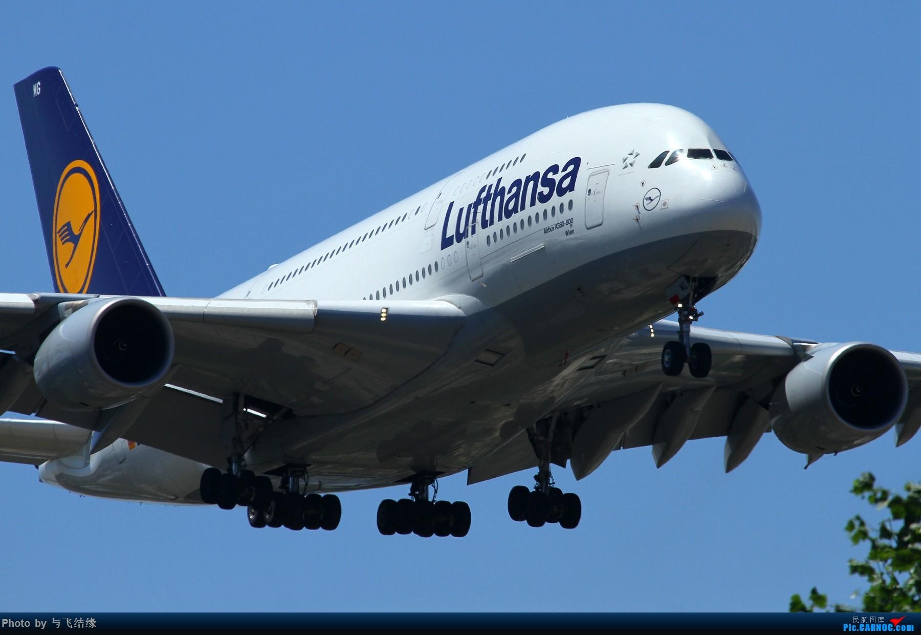 [原创]近进中的汉莎航空Airbus A380-800,D-AIMG特写。 AIRBUS A380-800 D-AIMG 中国北京首都国际机场
