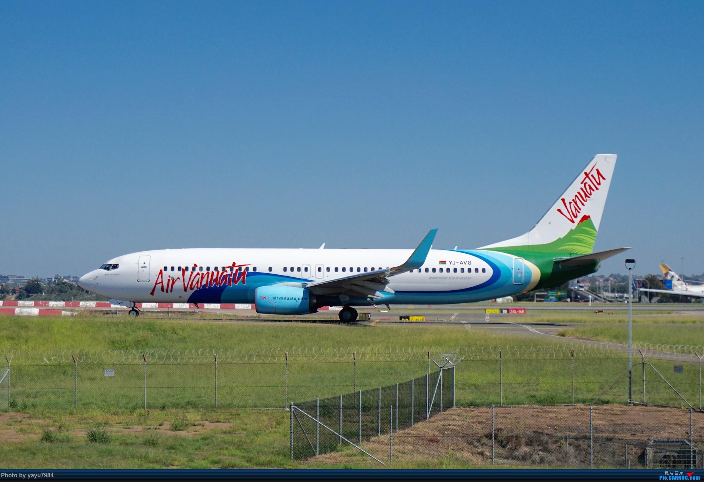 Re:[SYD] 近期随摄,收获颇多 BOEING 737-800 YJ-AV8 澳大利亚悉尼金斯福德·史密斯机场