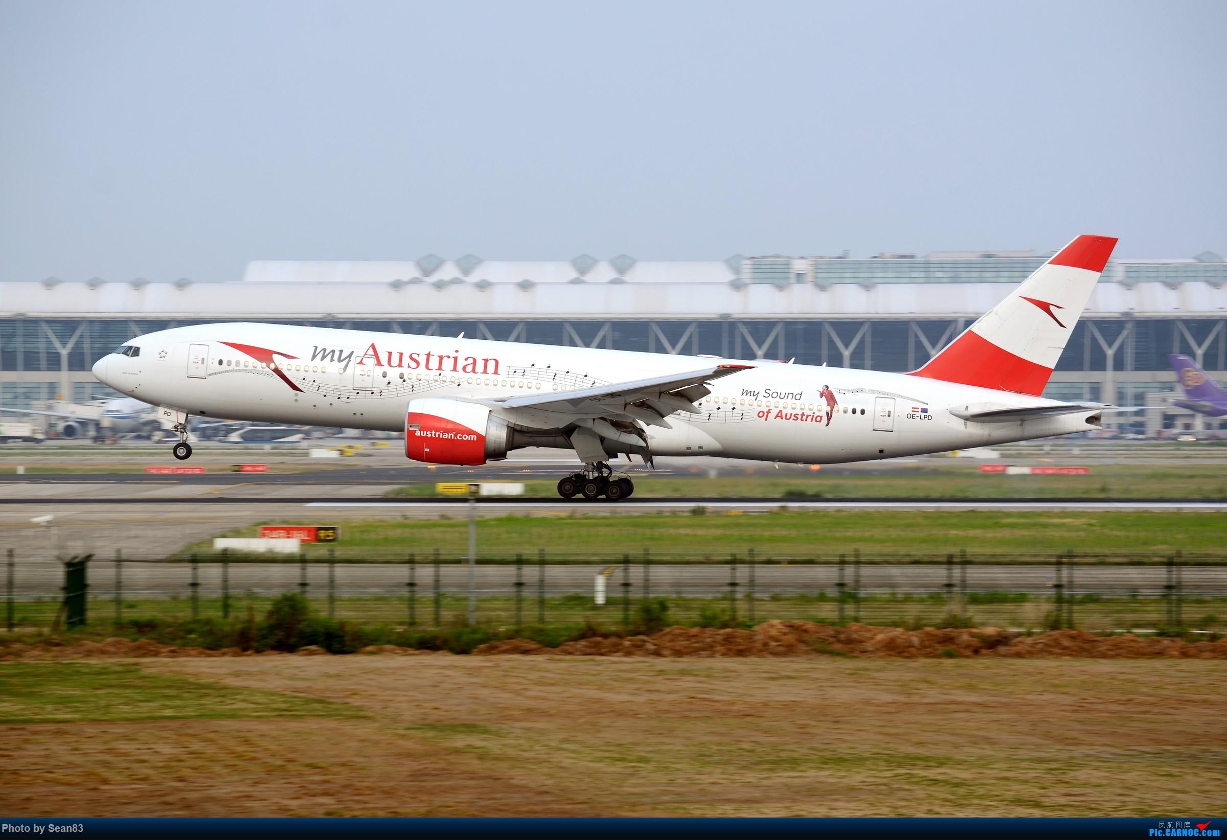 [原创](PVG)My Sound of Austrian BOEING 777-200ER OE-LPD 中国上海浦东国际机场